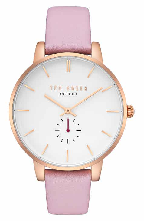 daa7633faf86 Ted Baker London Olivia Leather Strap Watch