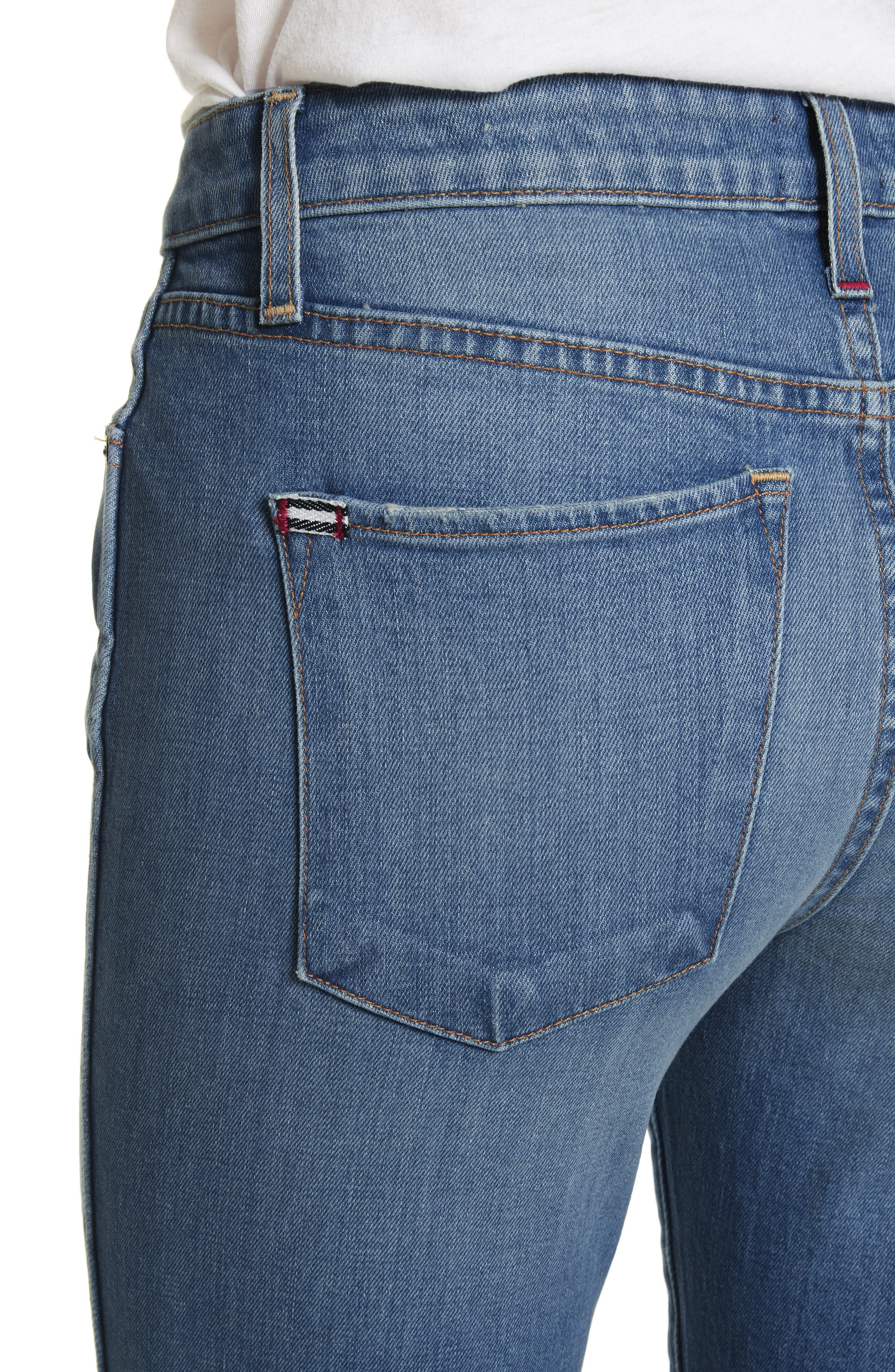 AO.LA Good Ankle Skinny Jeans,                             Alternate thumbnail 4, color,                             Sweet Emotion