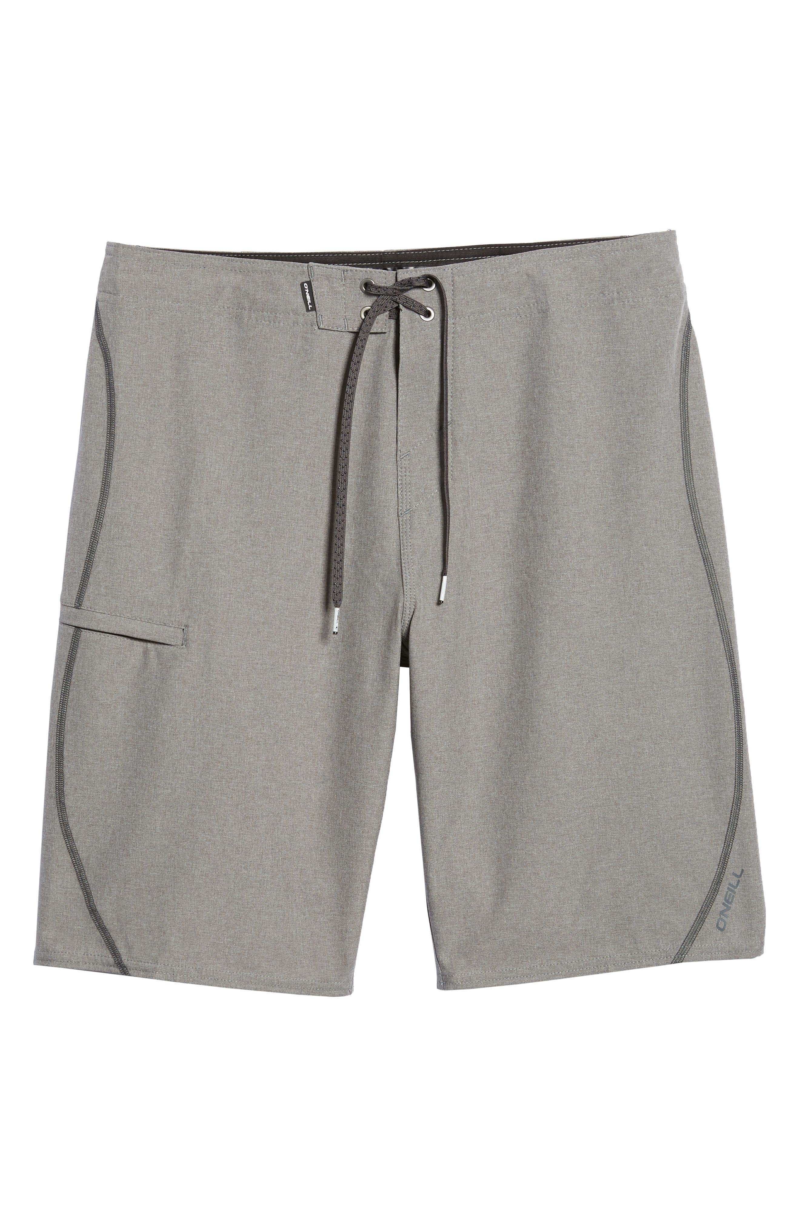 Hyperfreak S-Seam Board Shorts,                             Alternate thumbnail 6, color,                             Heather Grey