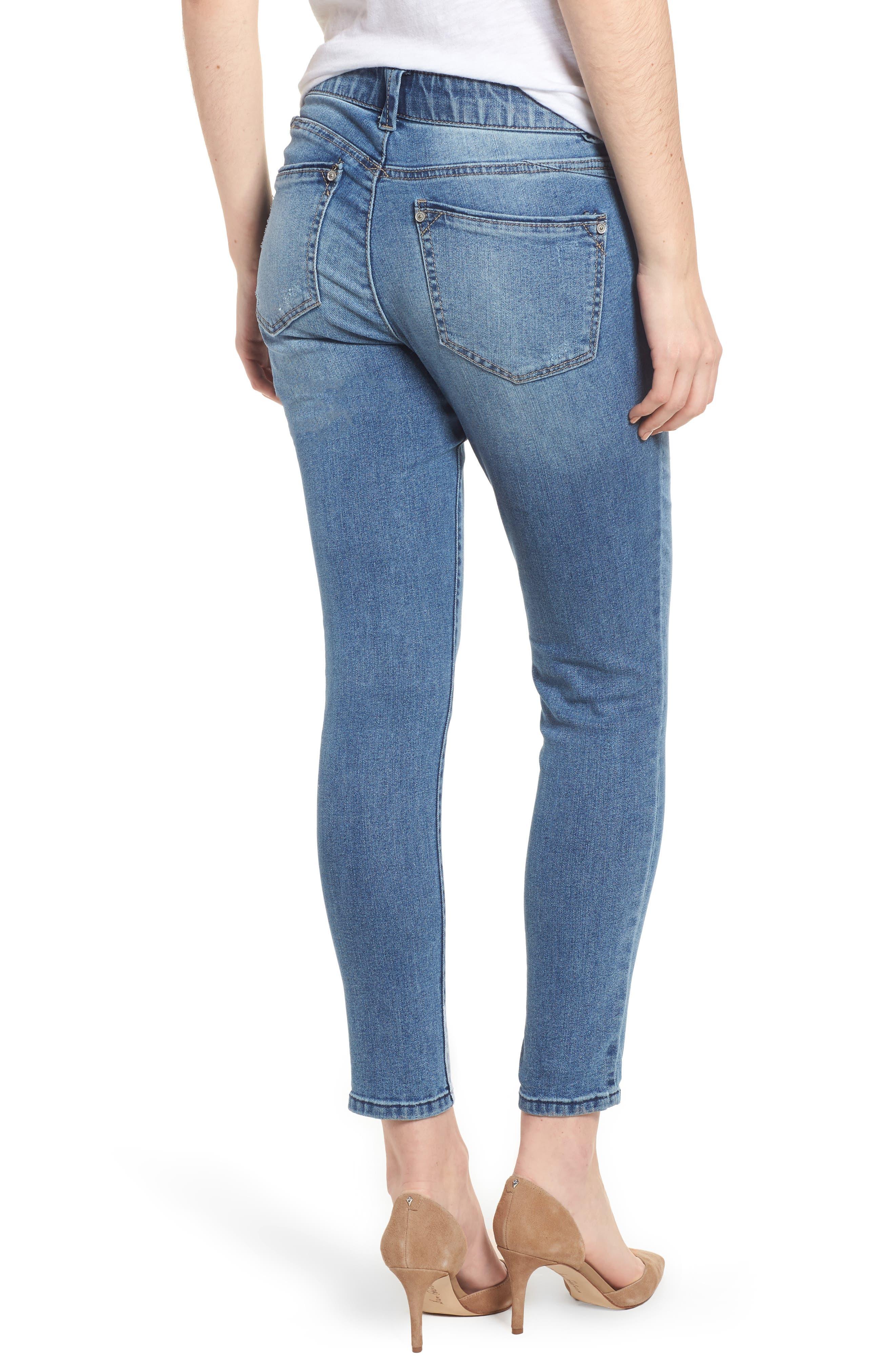 Ab-solution Ankle Skimmer Skinny Jeans Regular & Petite,                             Alternate thumbnail 2, color,                             Light Blue