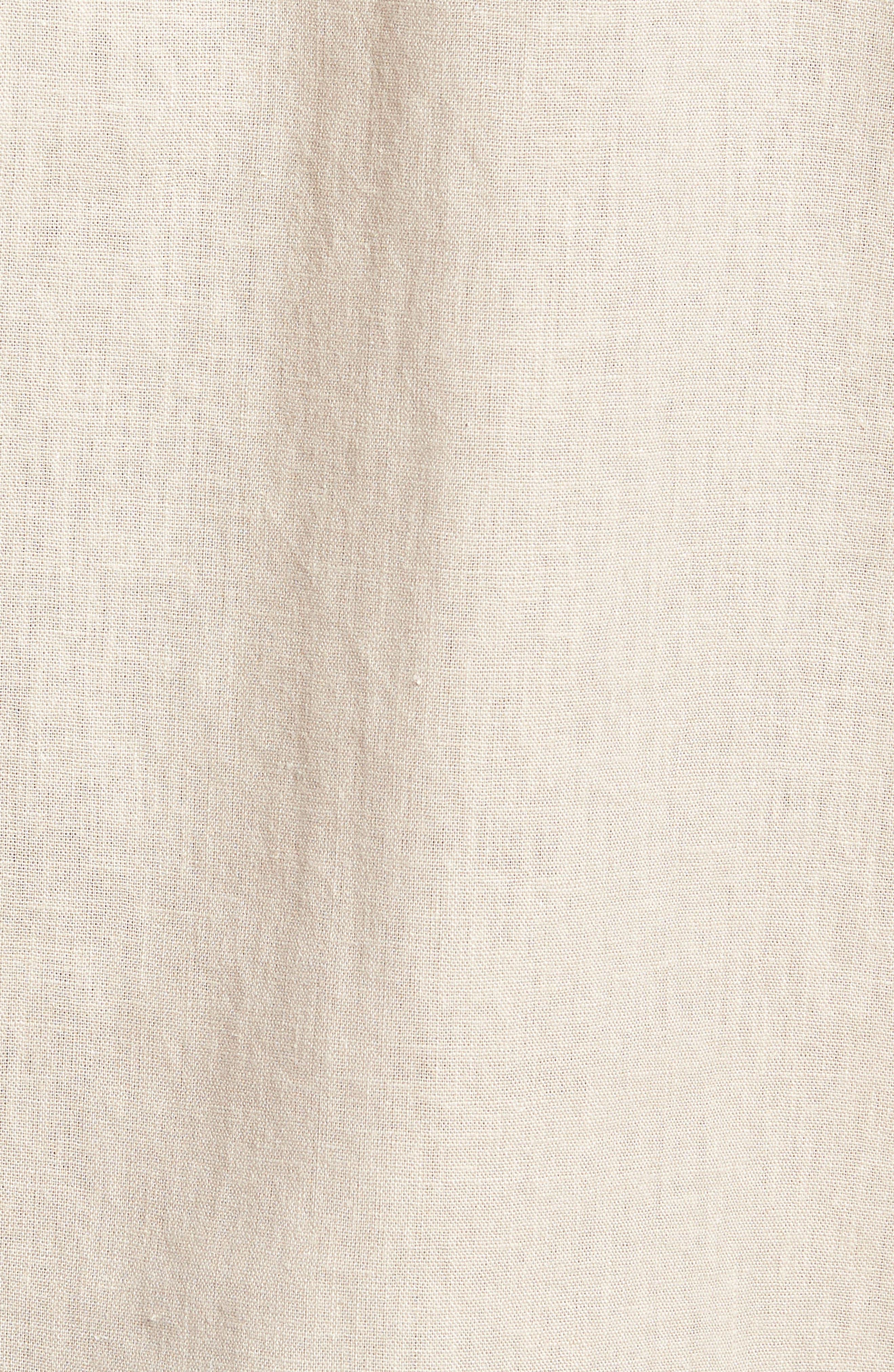 Linen Blend Sport Shirt,                             Alternate thumbnail 5, color,                             Beige Bliss