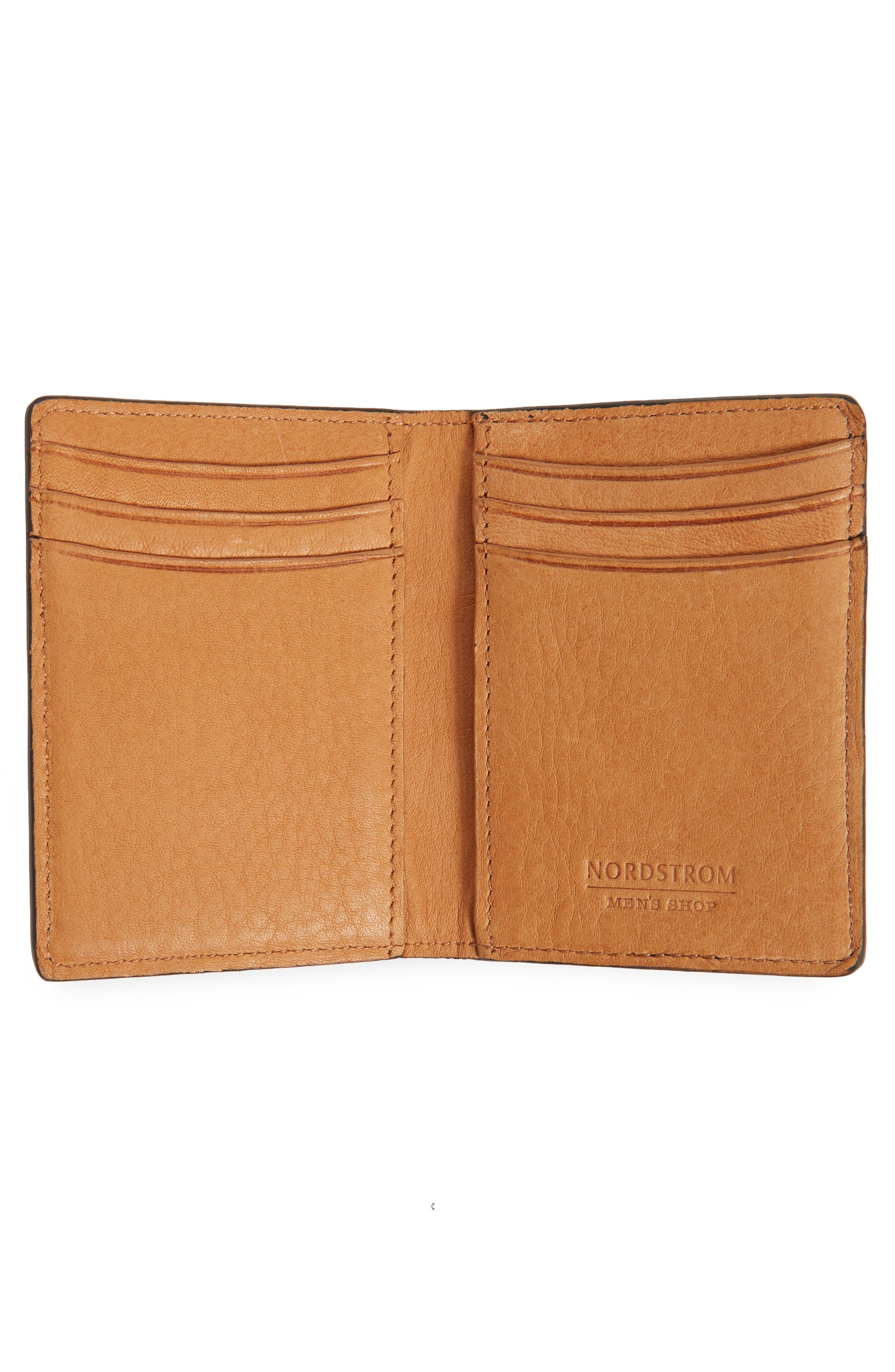 Darien Leather Bifold Card Case,                             Alternate thumbnail 2, color,                             Black