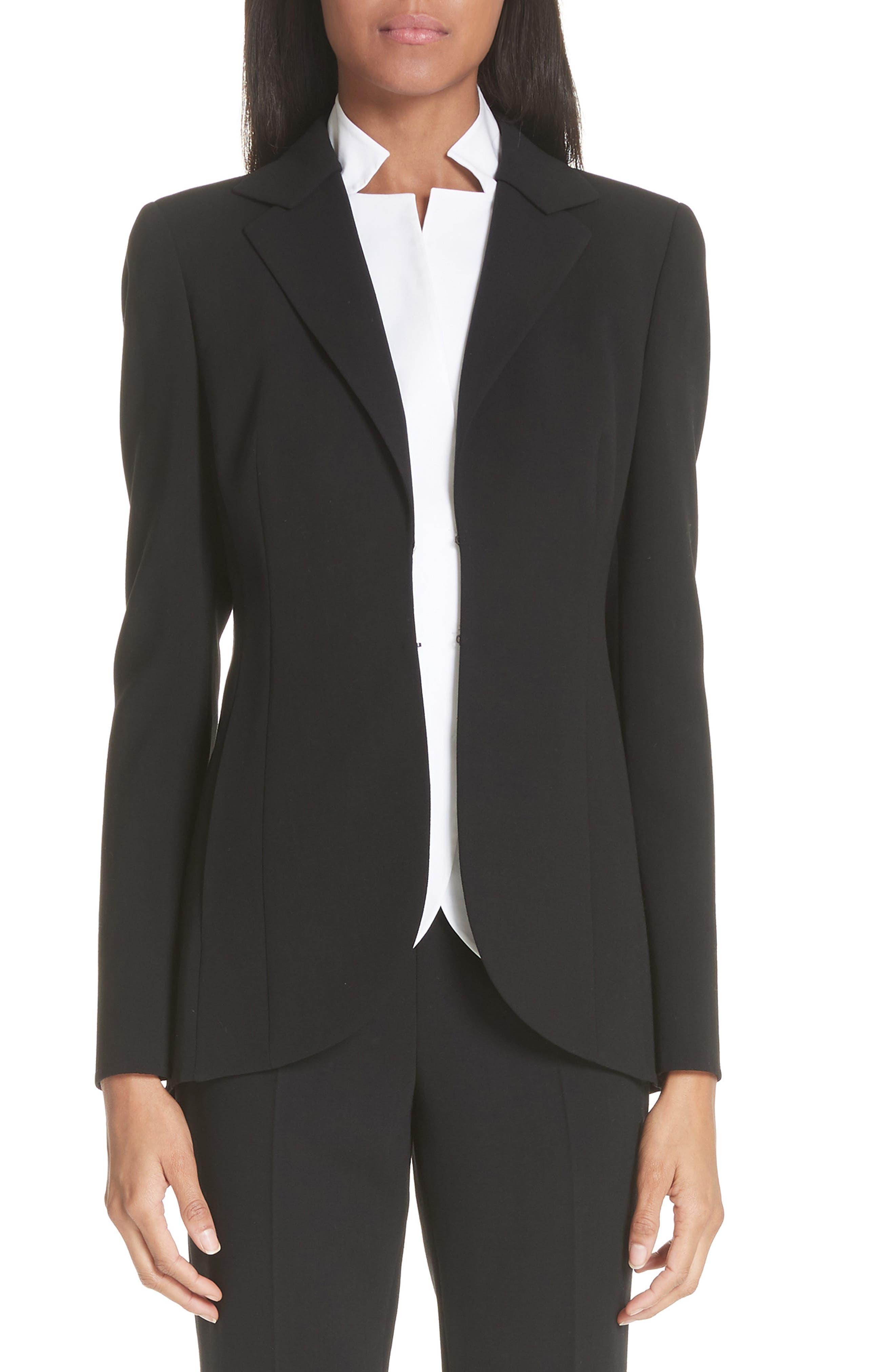 Alternate Image 1 Selected - Akris 'Pentagon' Double Face Wool Jacket