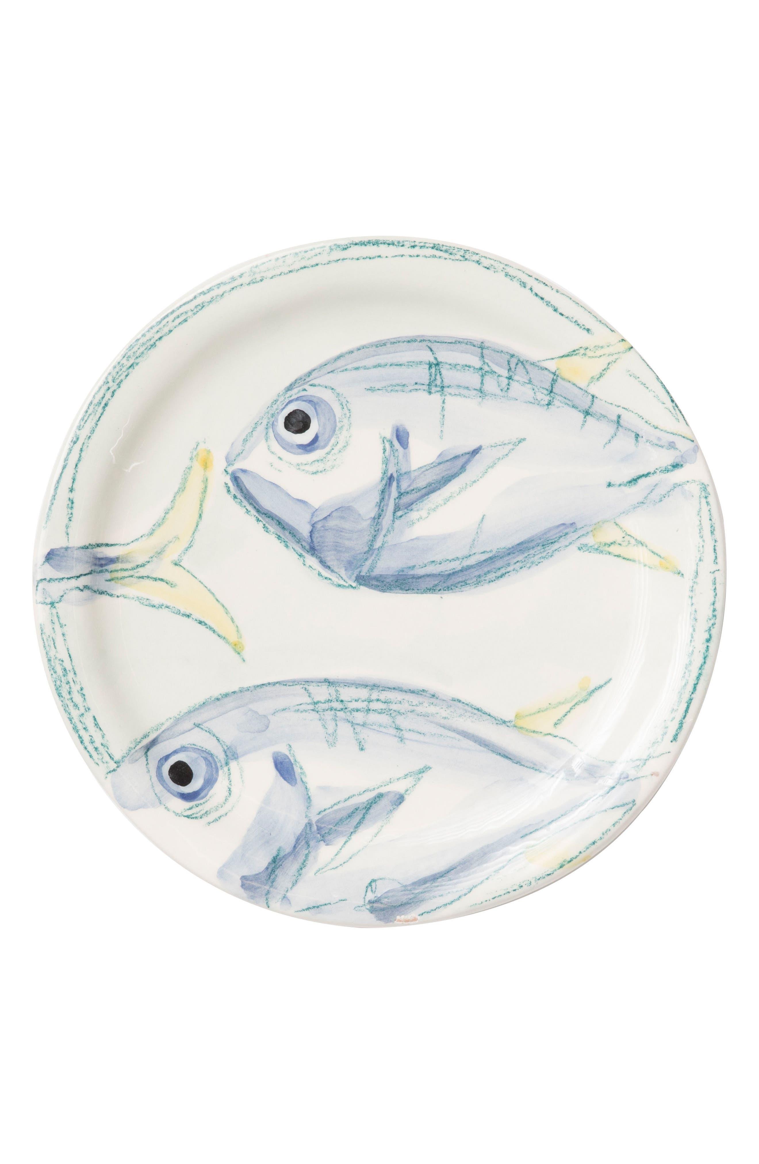 Pescatore Salad Plate,                             Main thumbnail 1, color,                             White