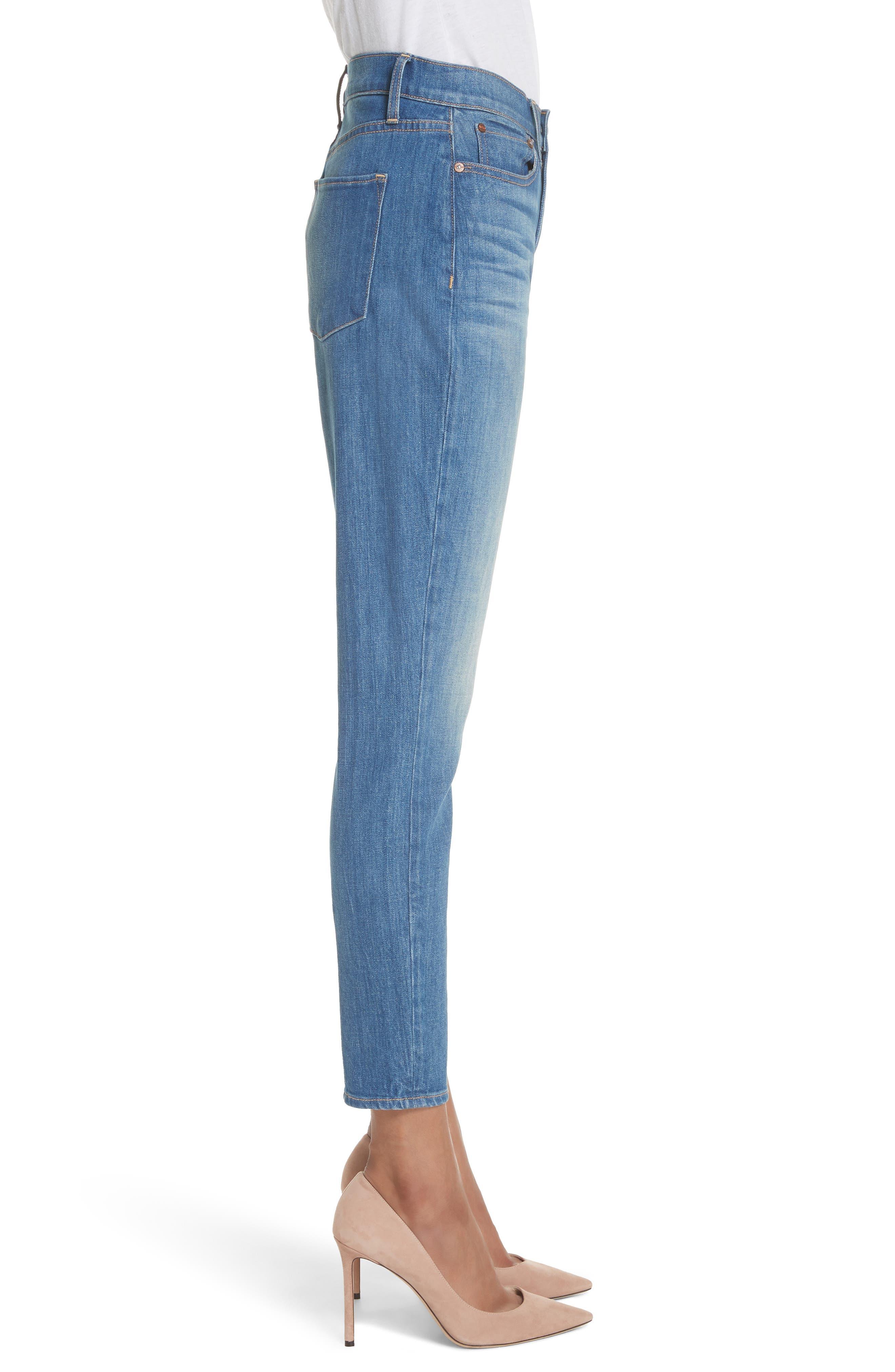 AO.LA Good High Waist Ankle Skinny Jeans,                             Alternate thumbnail 3, color,                             Side Hustle