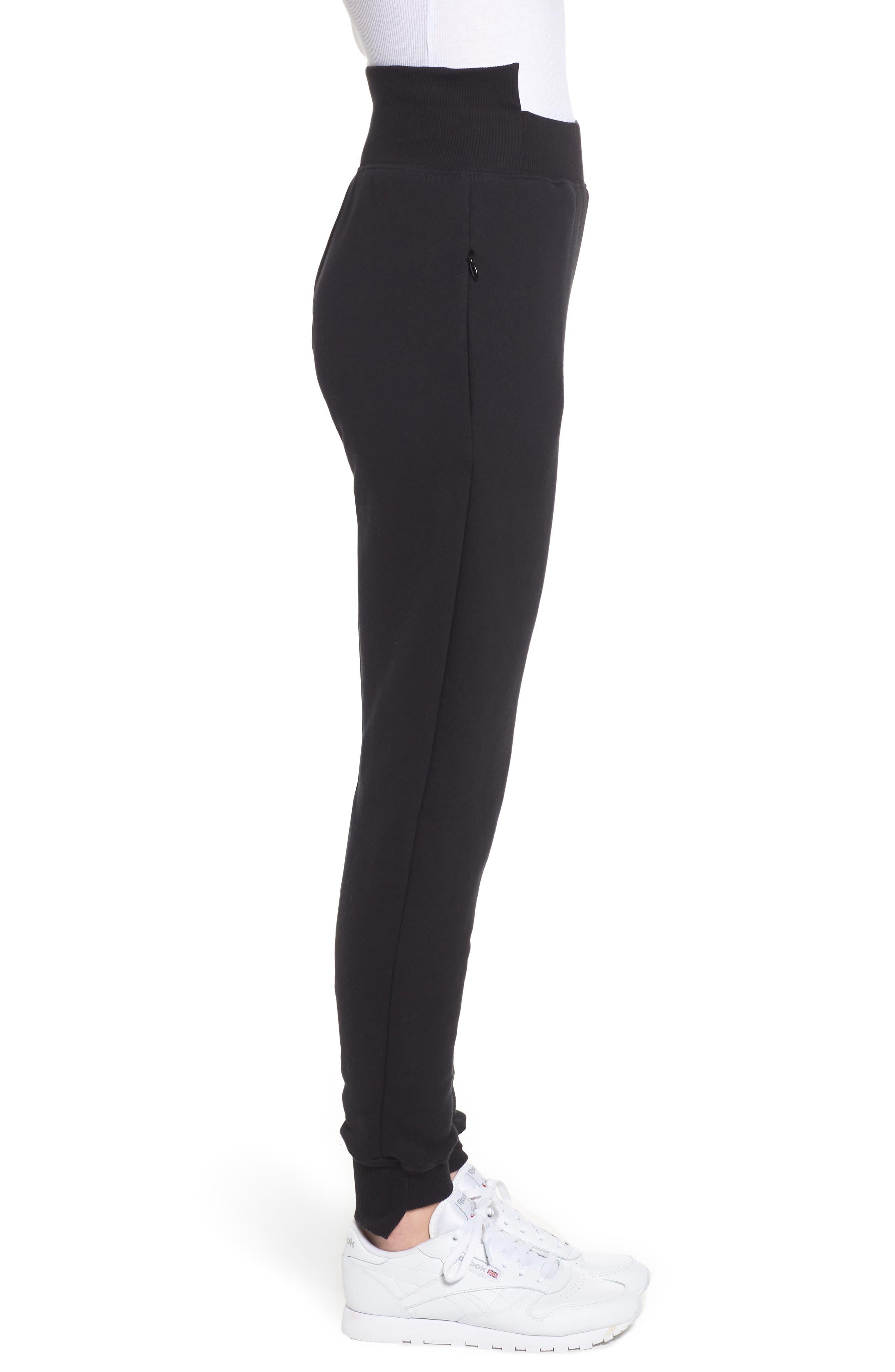Alternate Image 3  - Good American Good Sweats Step Hem Sweatpants (Regular & Plus Size)