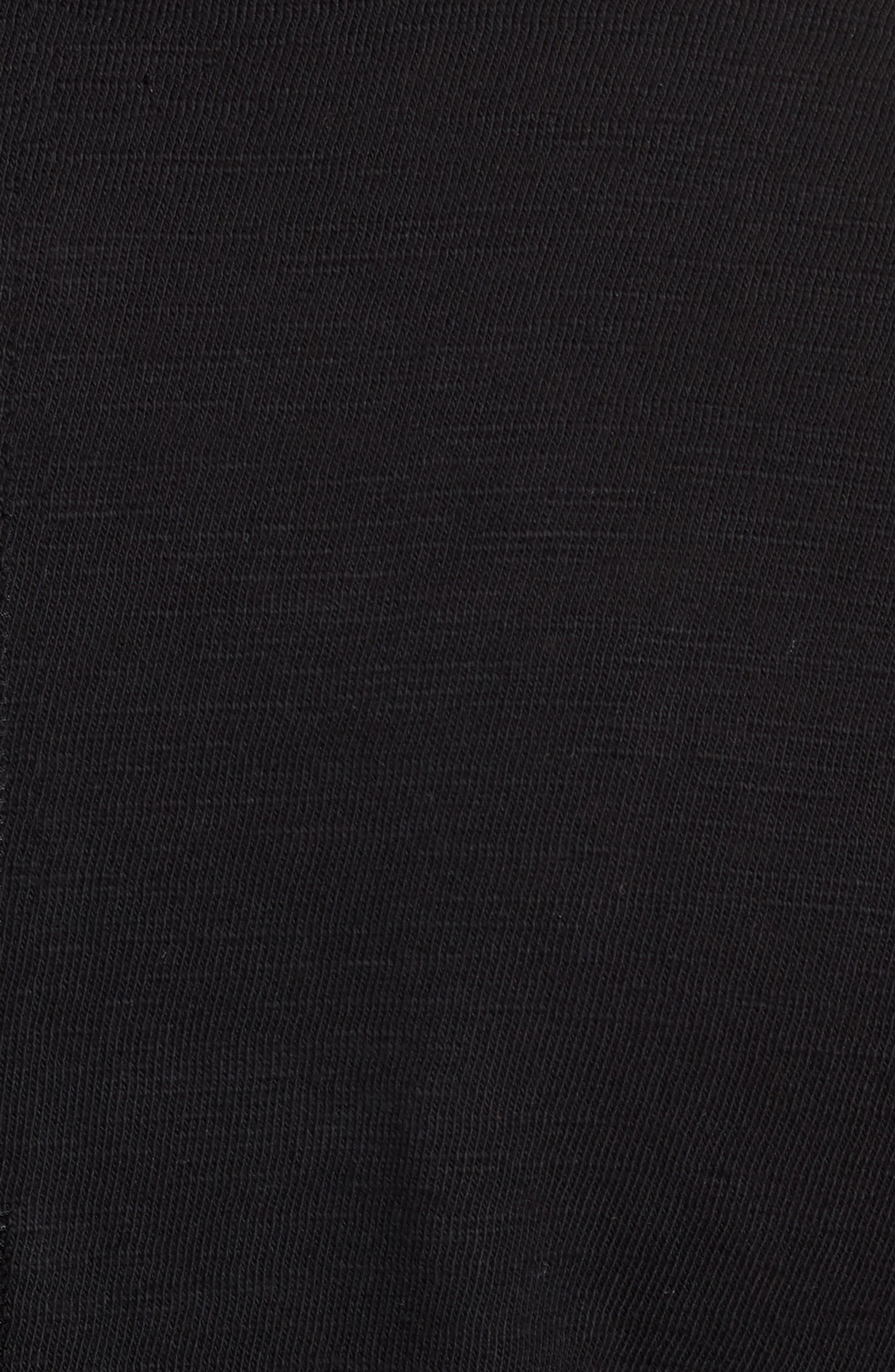 Classic Cotton Henley,                             Alternate thumbnail 5, color,                             Jet Black