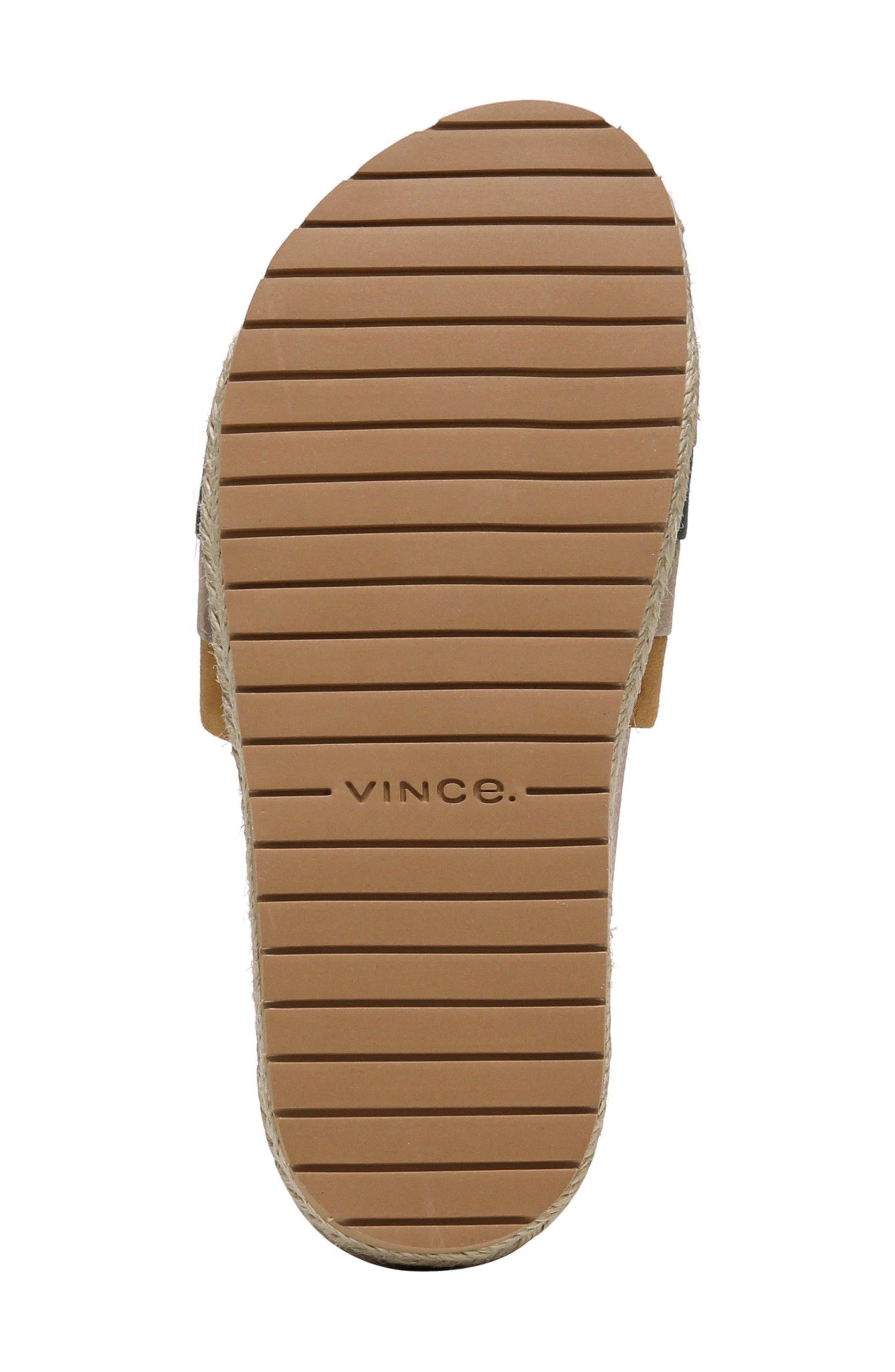 Alisa Striped Slide Sandal,                             Alternate thumbnail 6, color,                             Cedar Multi
