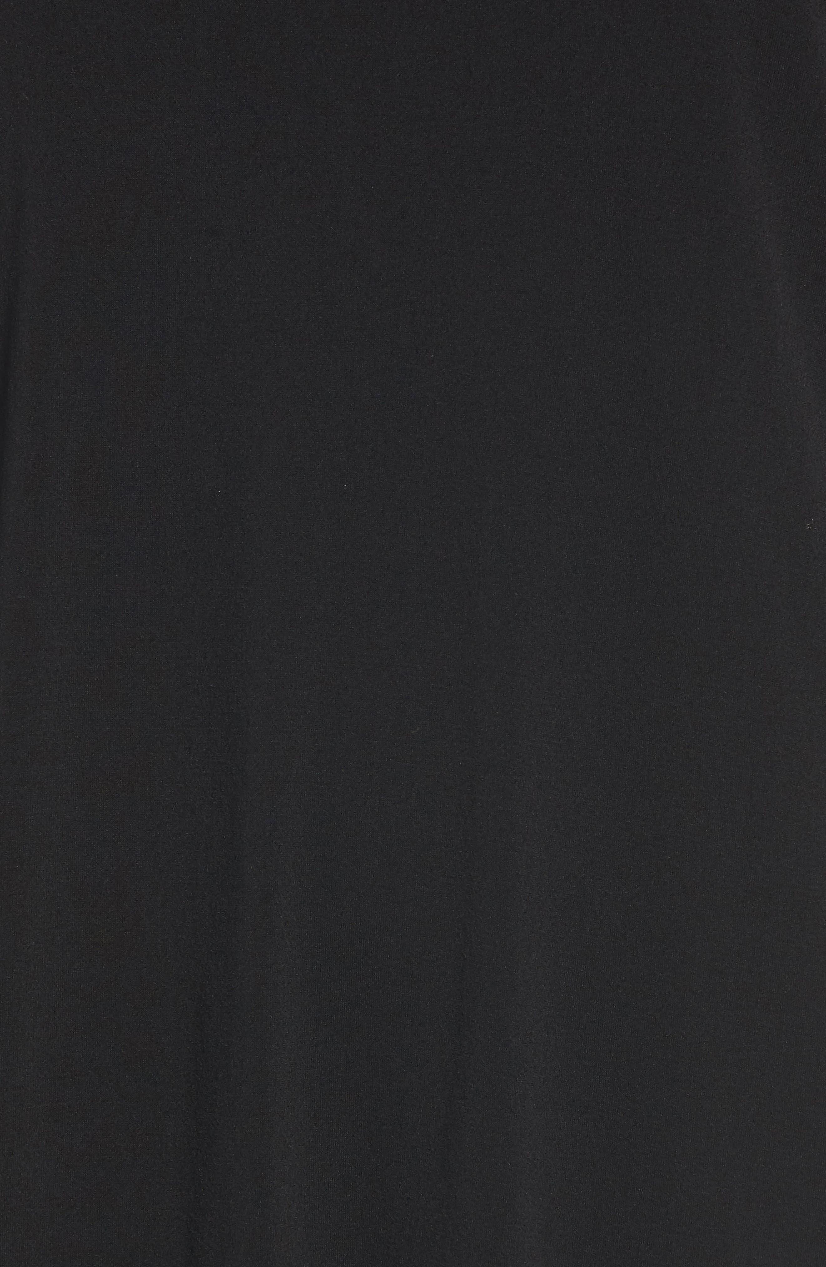 Silk Knit Top,                             Alternate thumbnail 6, color,                             Black