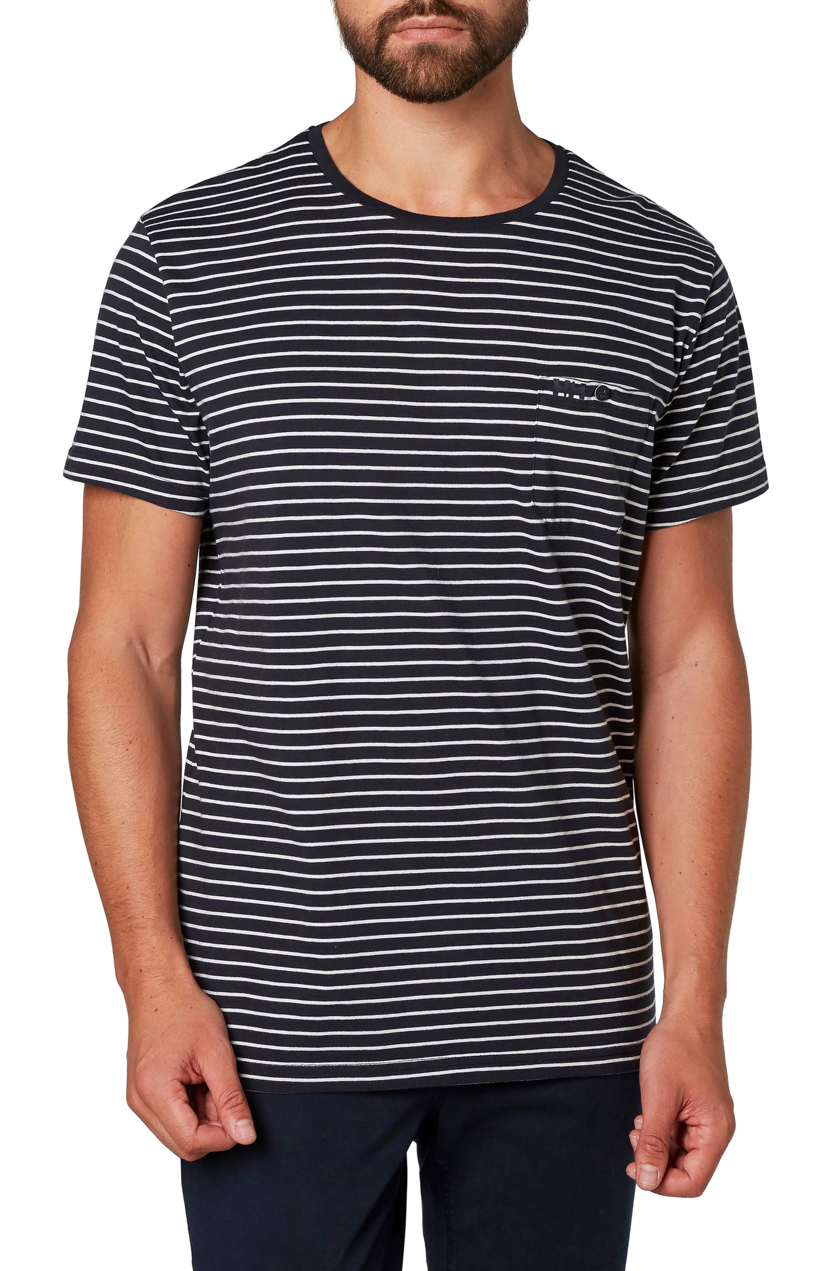 Fjord Cotton Blend T-Shirt,                         Main,                         color, Navy Micro Stripes