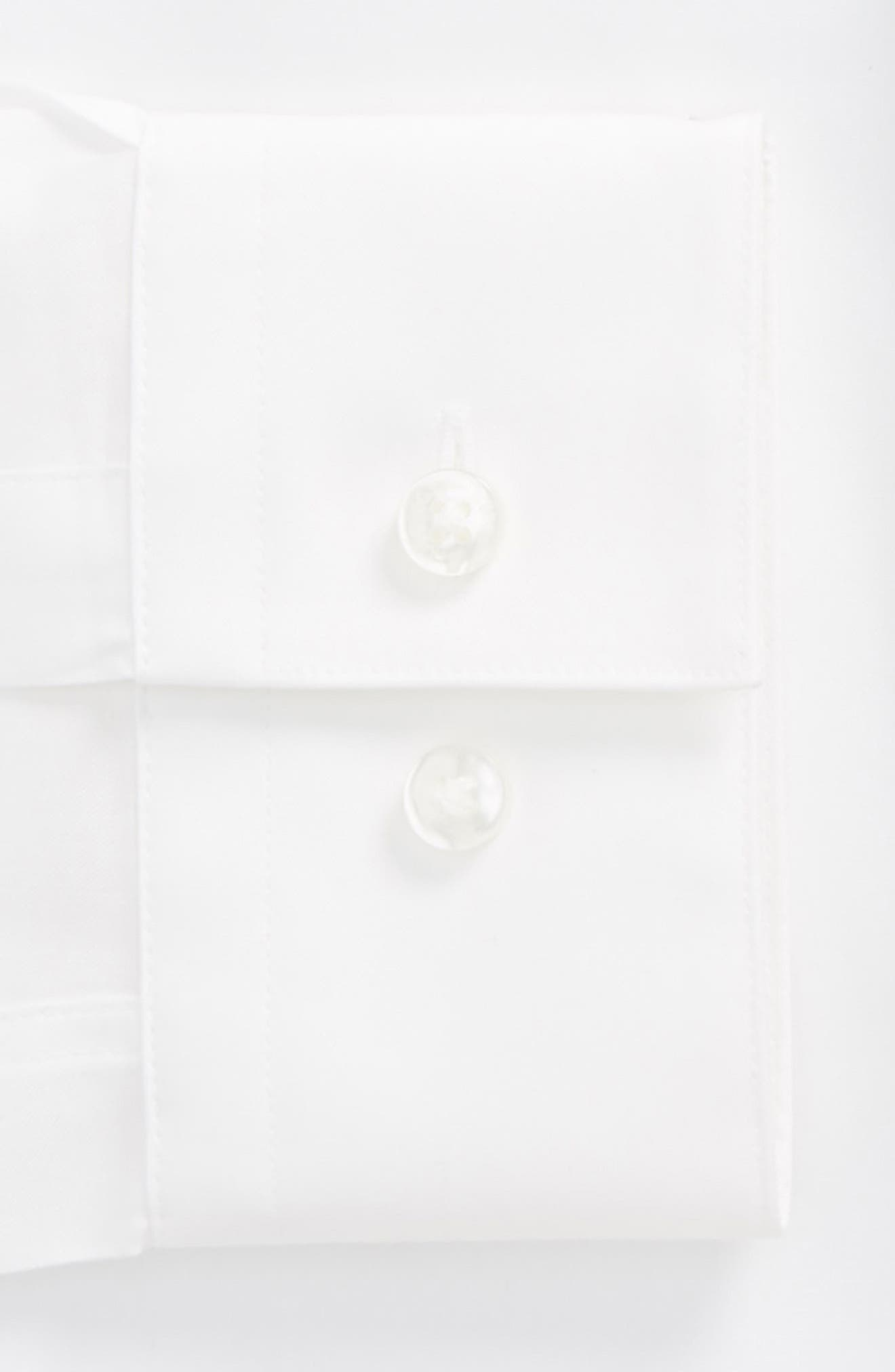 Jamir Slim Fit Easy Iron Solid Dress Shirt,                             Alternate thumbnail 2, color,                             White
