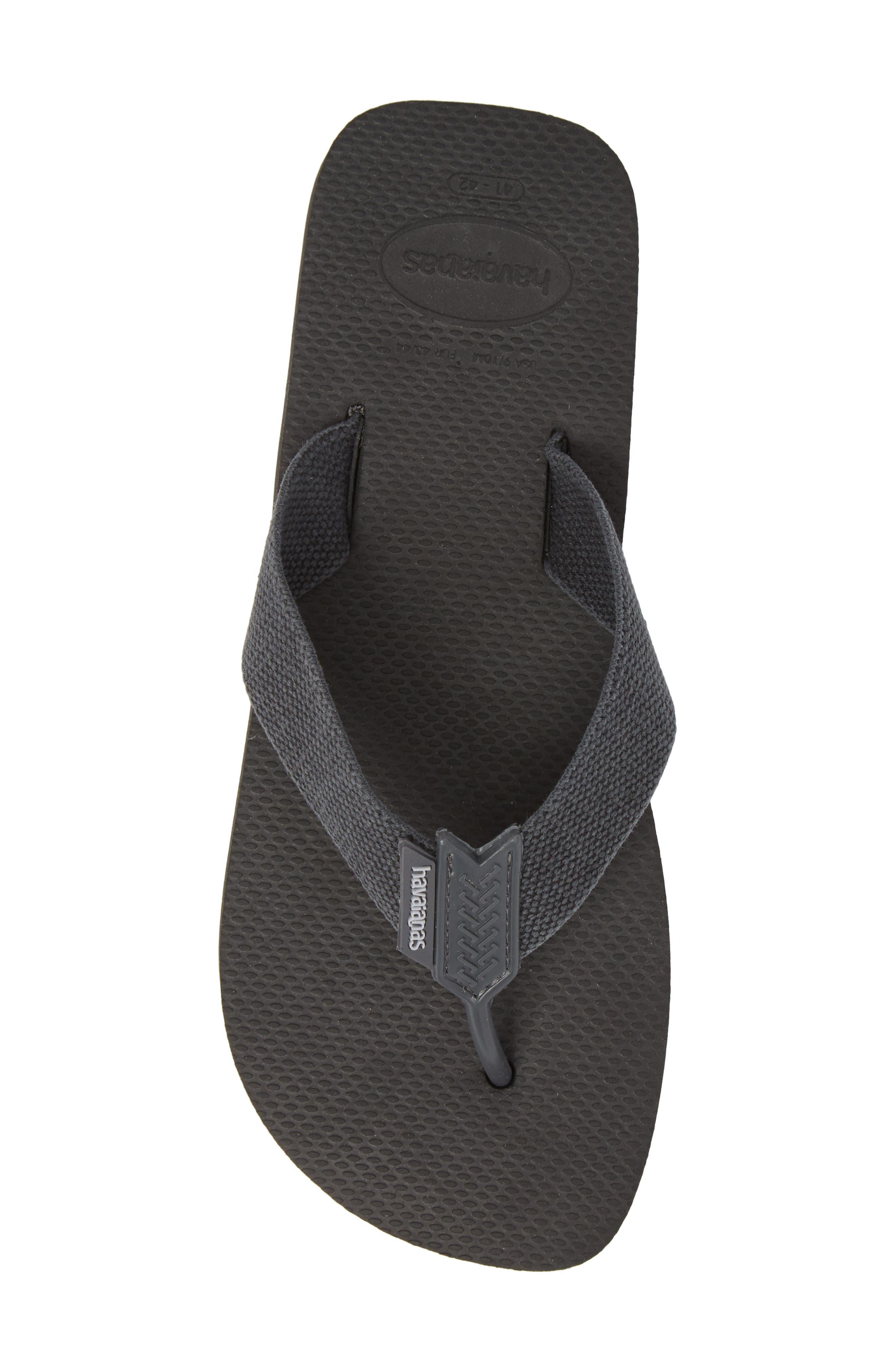 Havianas 'Urban Basic' Flip Flop,                             Alternate thumbnail 5, color,                             Black/ Grey
