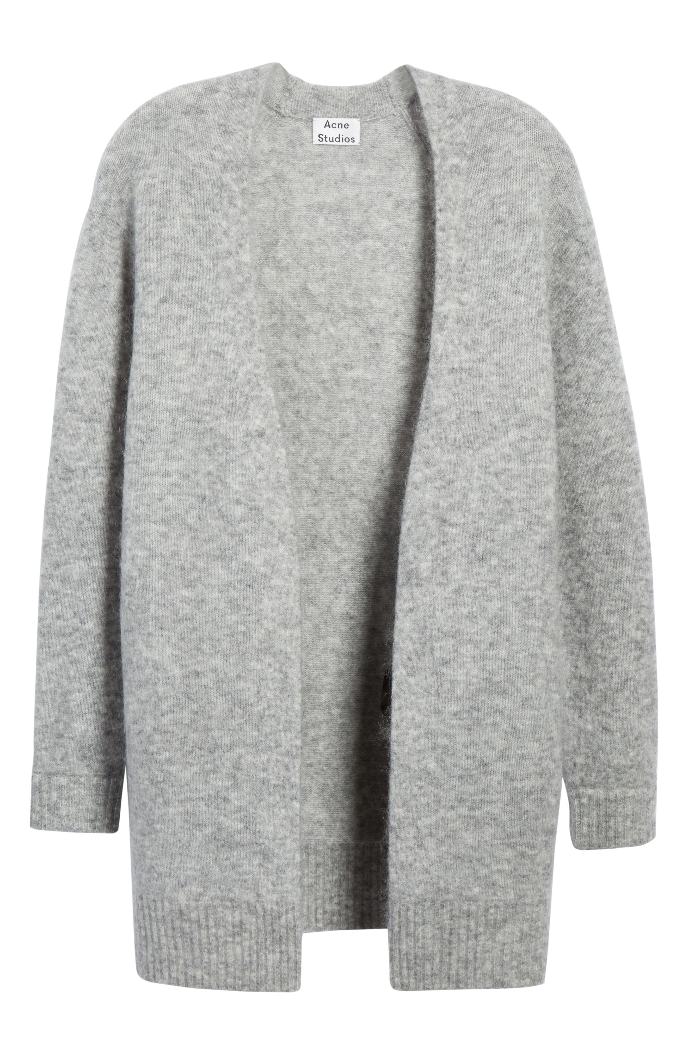 Raya Sh Mohair Knit Cardigan,                             Alternate thumbnail 6, color,                             Husky Grey
