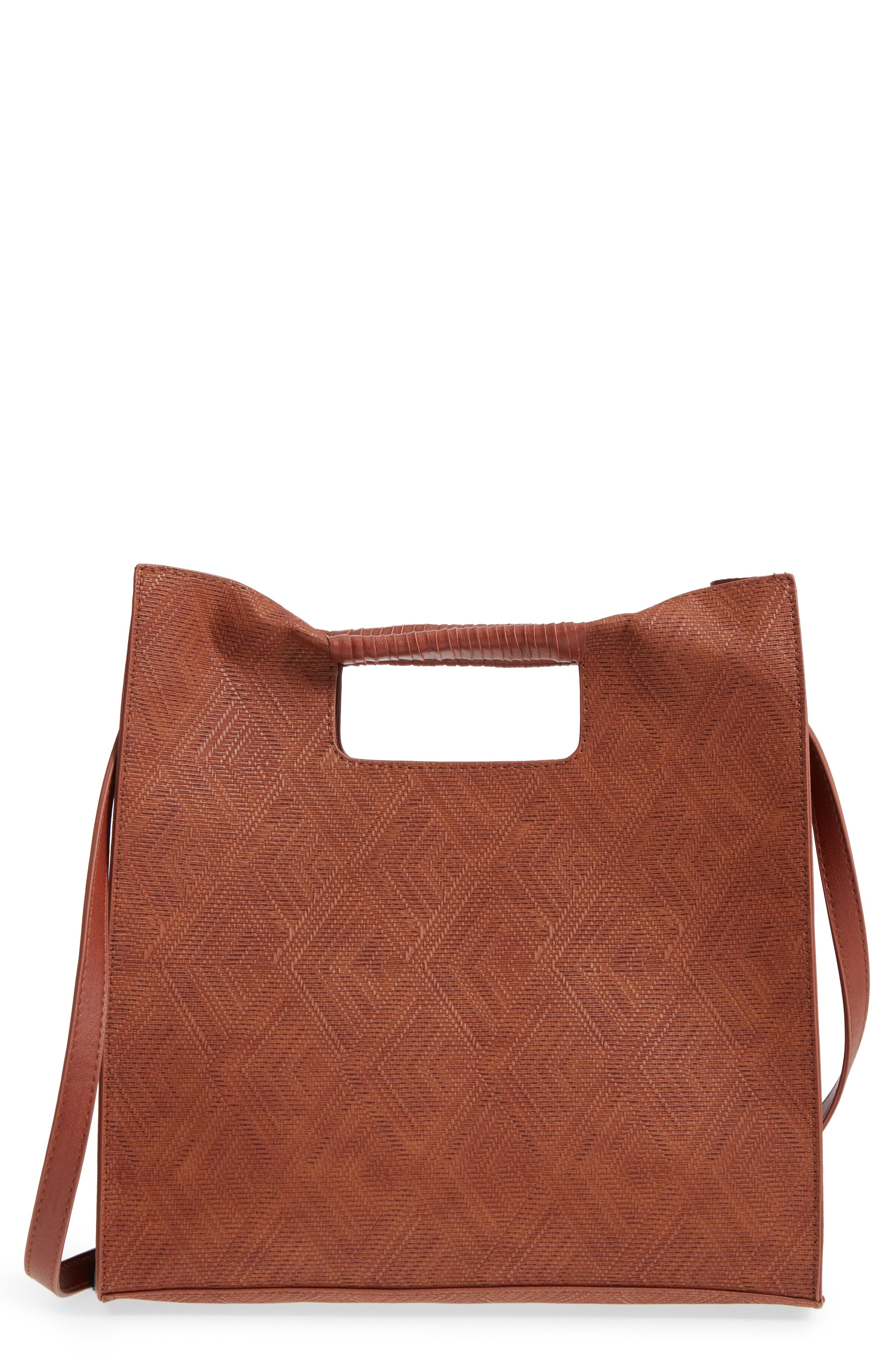 BP. Geo Woven Wrap Handle Tote