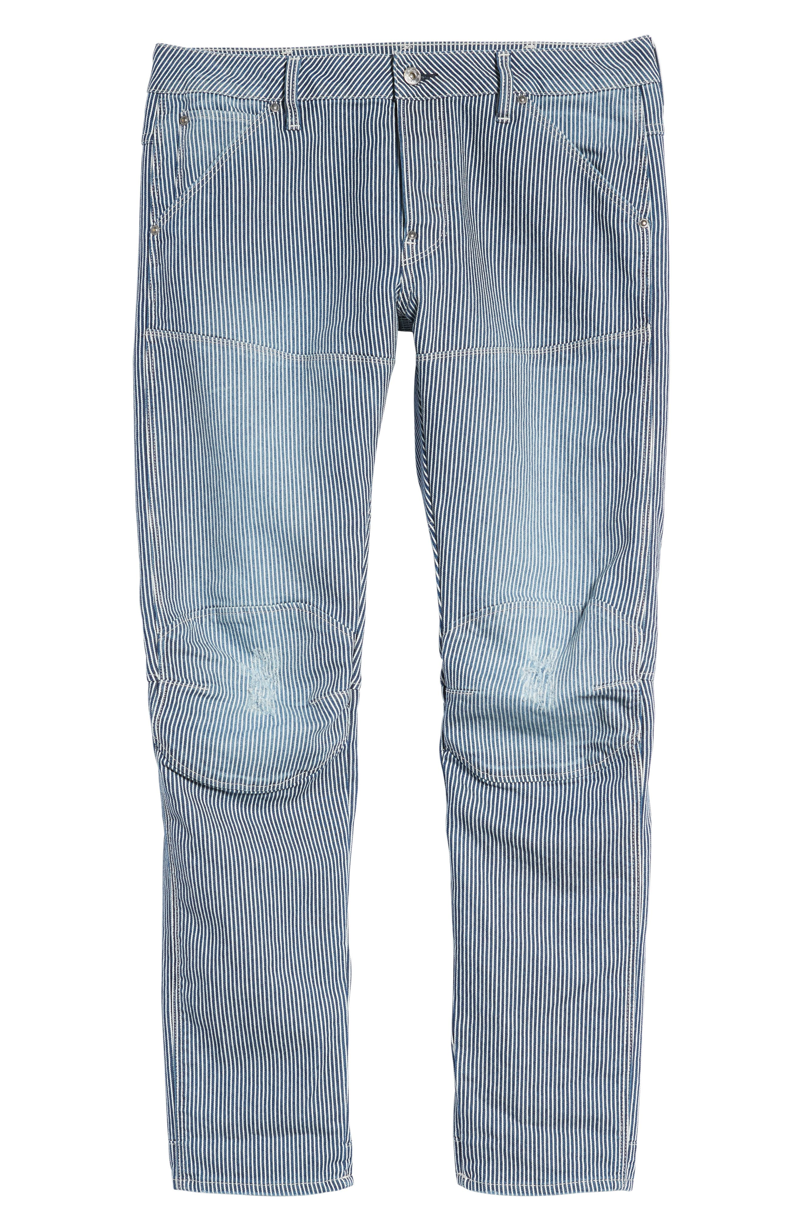 3D Slim Pants,                             Alternate thumbnail 6, color,                             Medium Aged Destroy