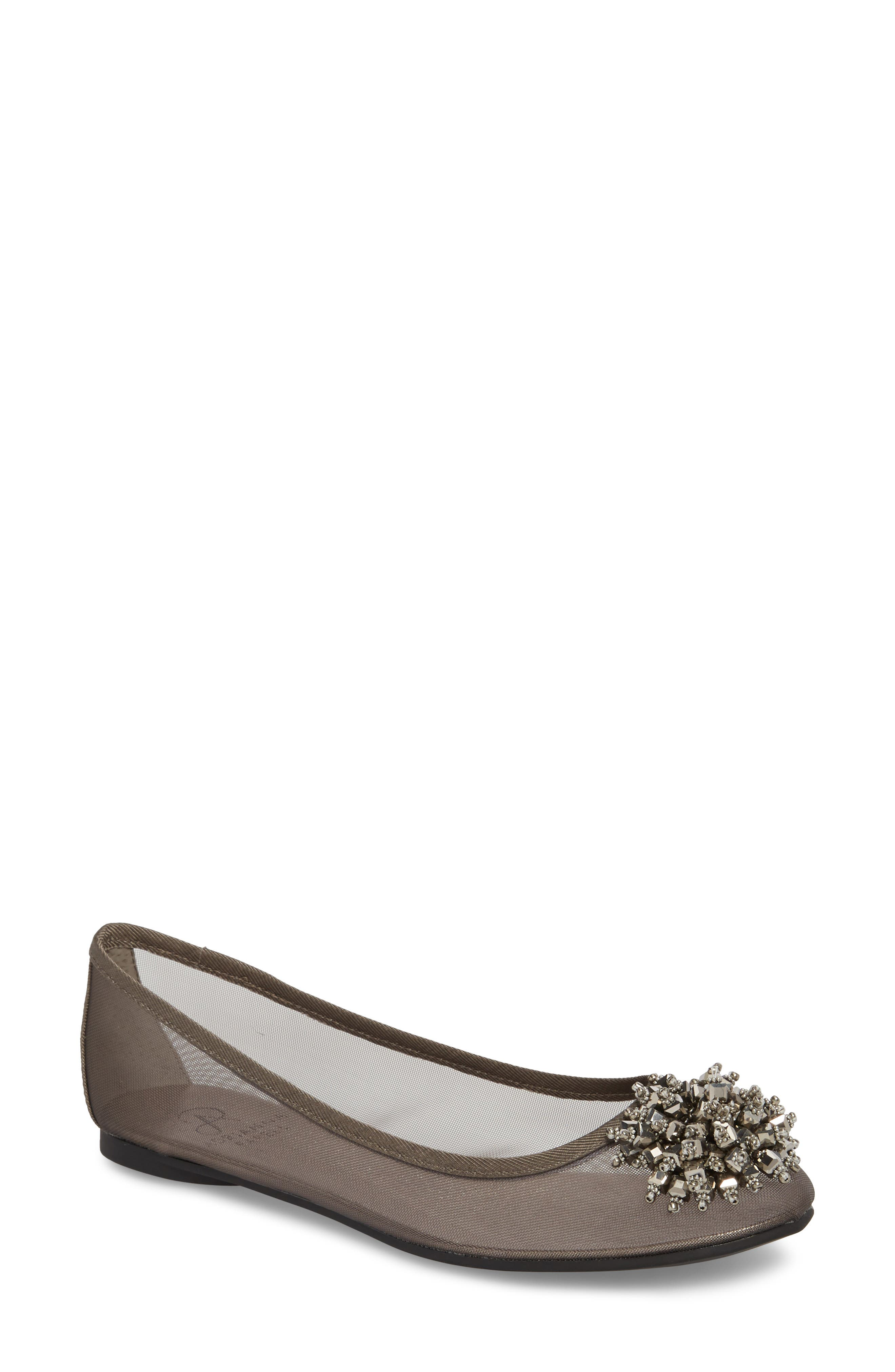 Adrianna Papell Stevie Embellished Flat (Women)