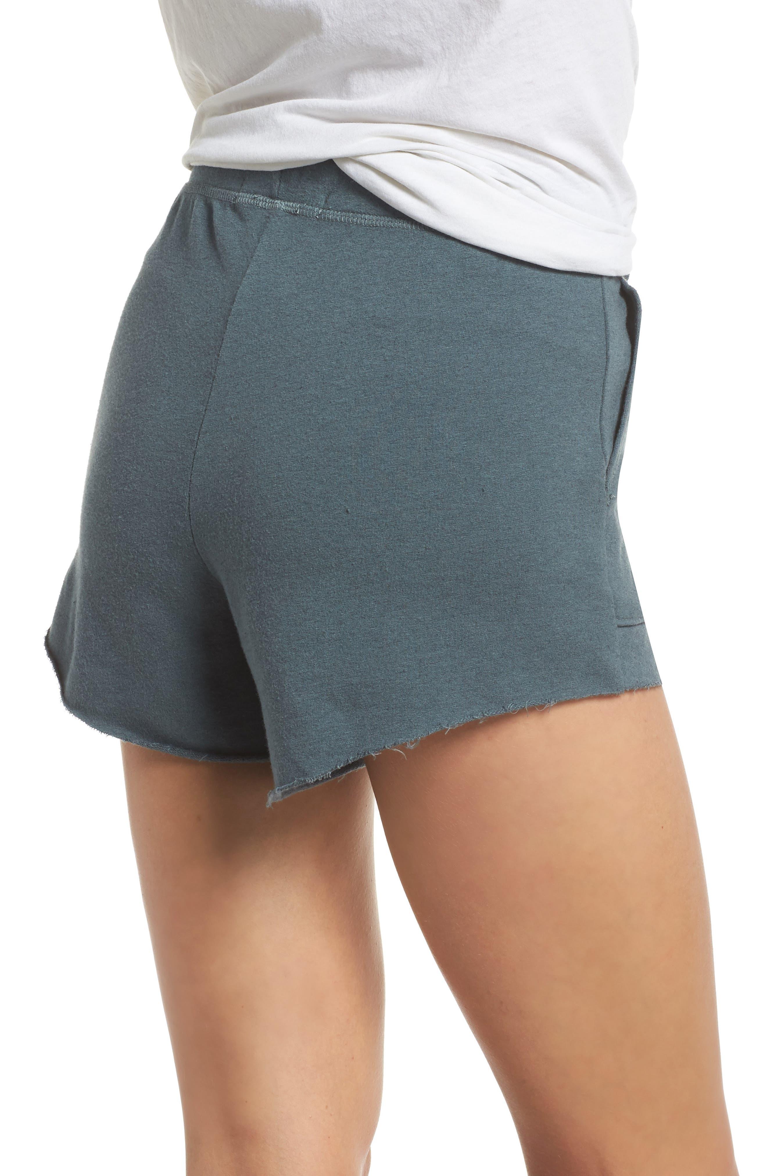 Raw Cut Lounge Shorts,                             Alternate thumbnail 2, color,                             Gunmetal