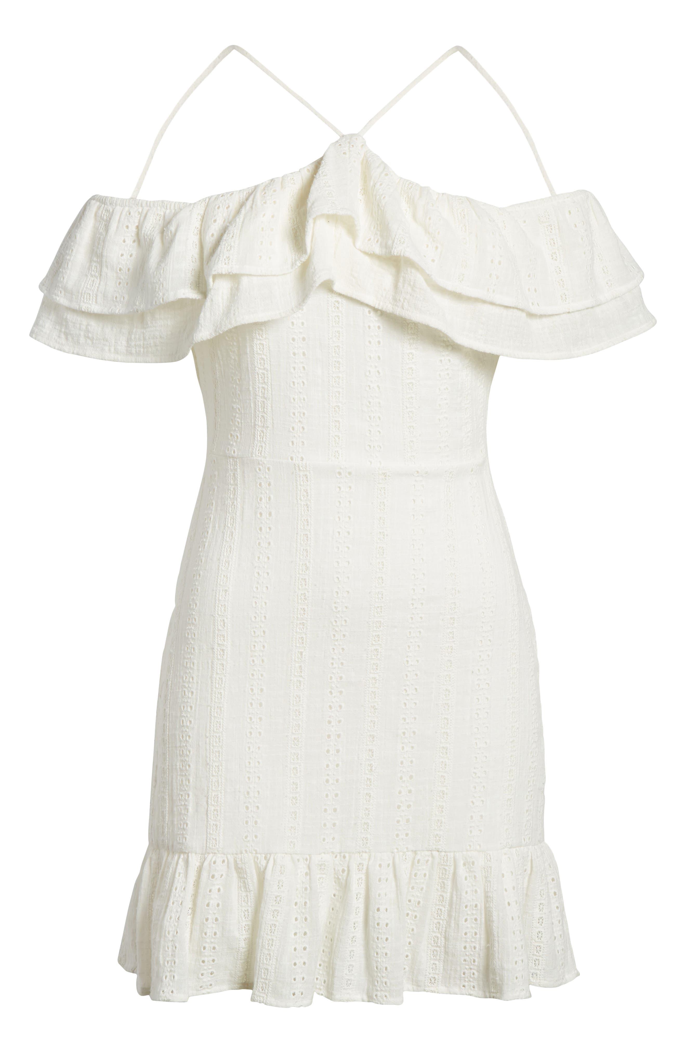 Daisy Eyelet Minidress,                             Alternate thumbnail 7, color,                             White