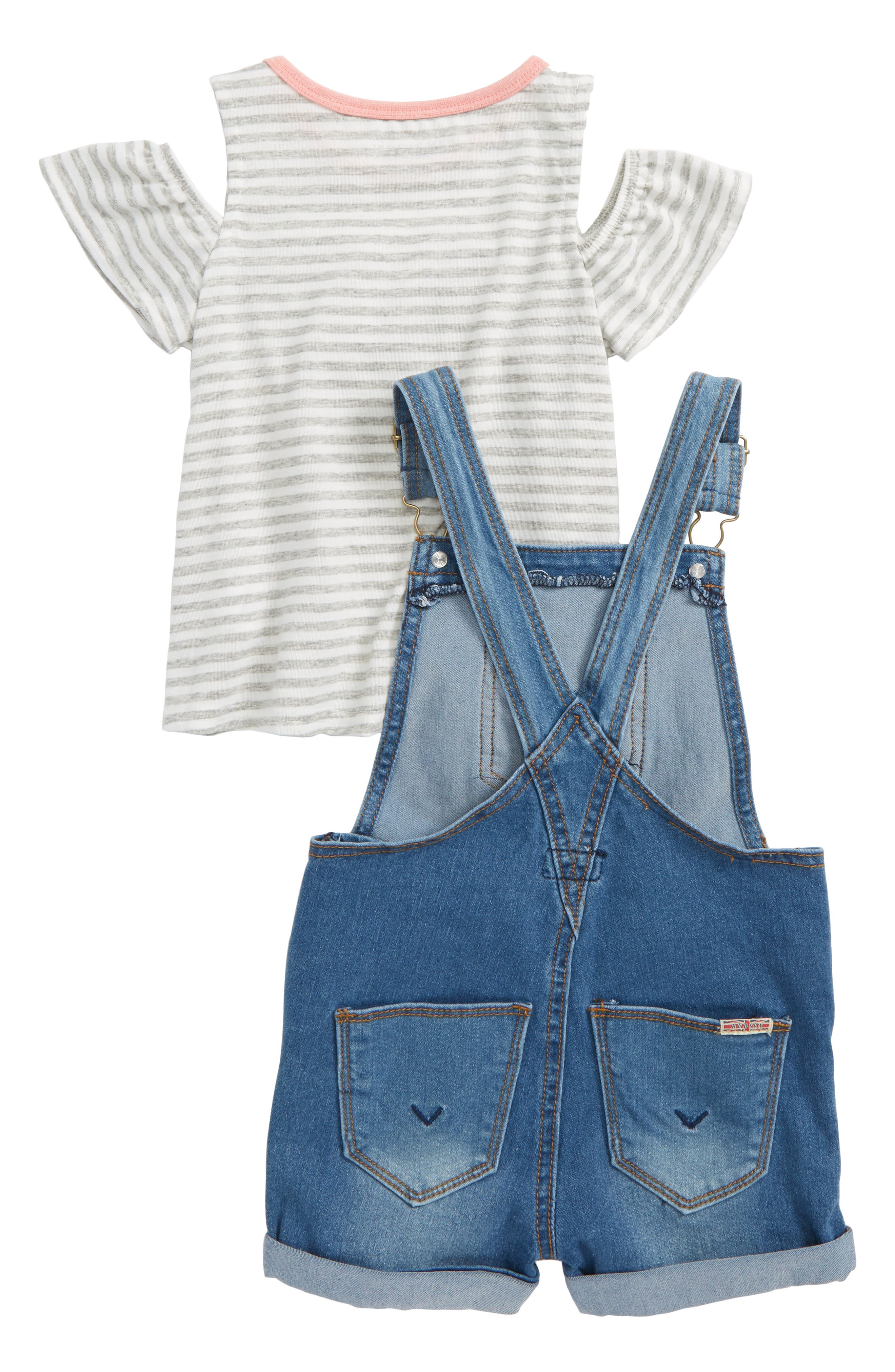 Overalls & Tee Set,                             Alternate thumbnail 2, color,                             Whatever Wash