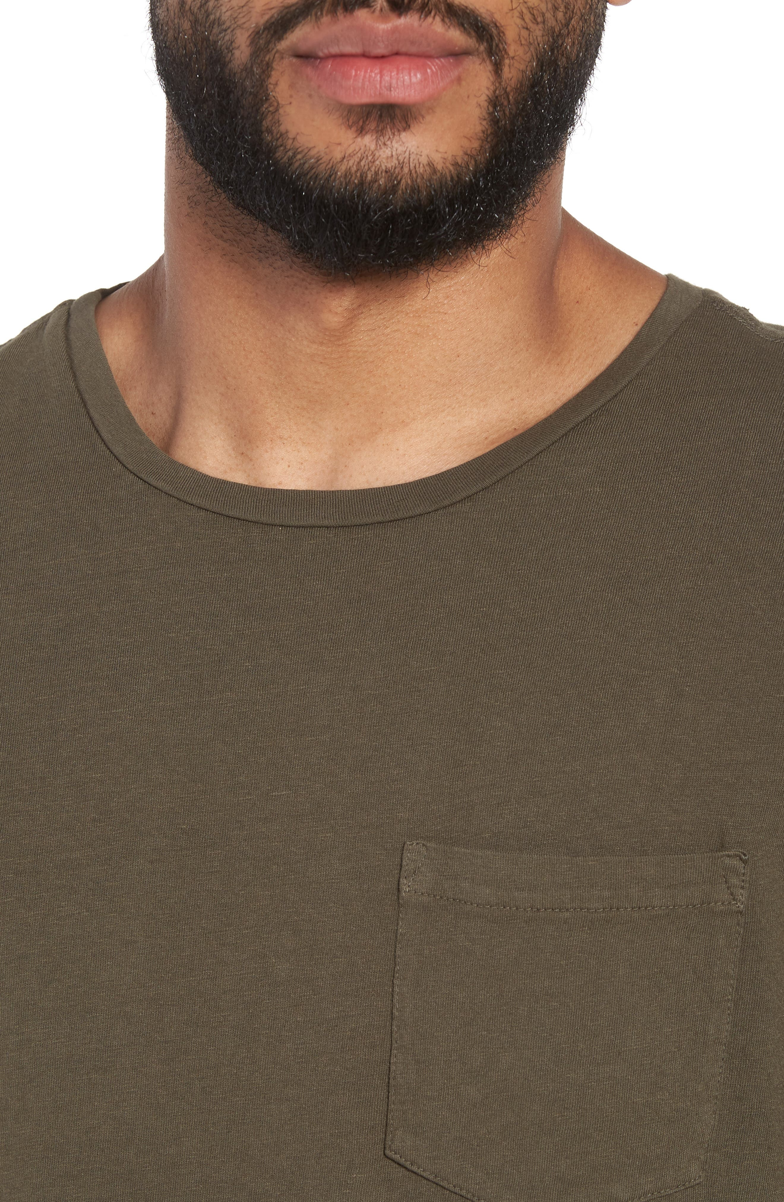 Pocket T-Shirt,                             Alternate thumbnail 4, color,                             Olive