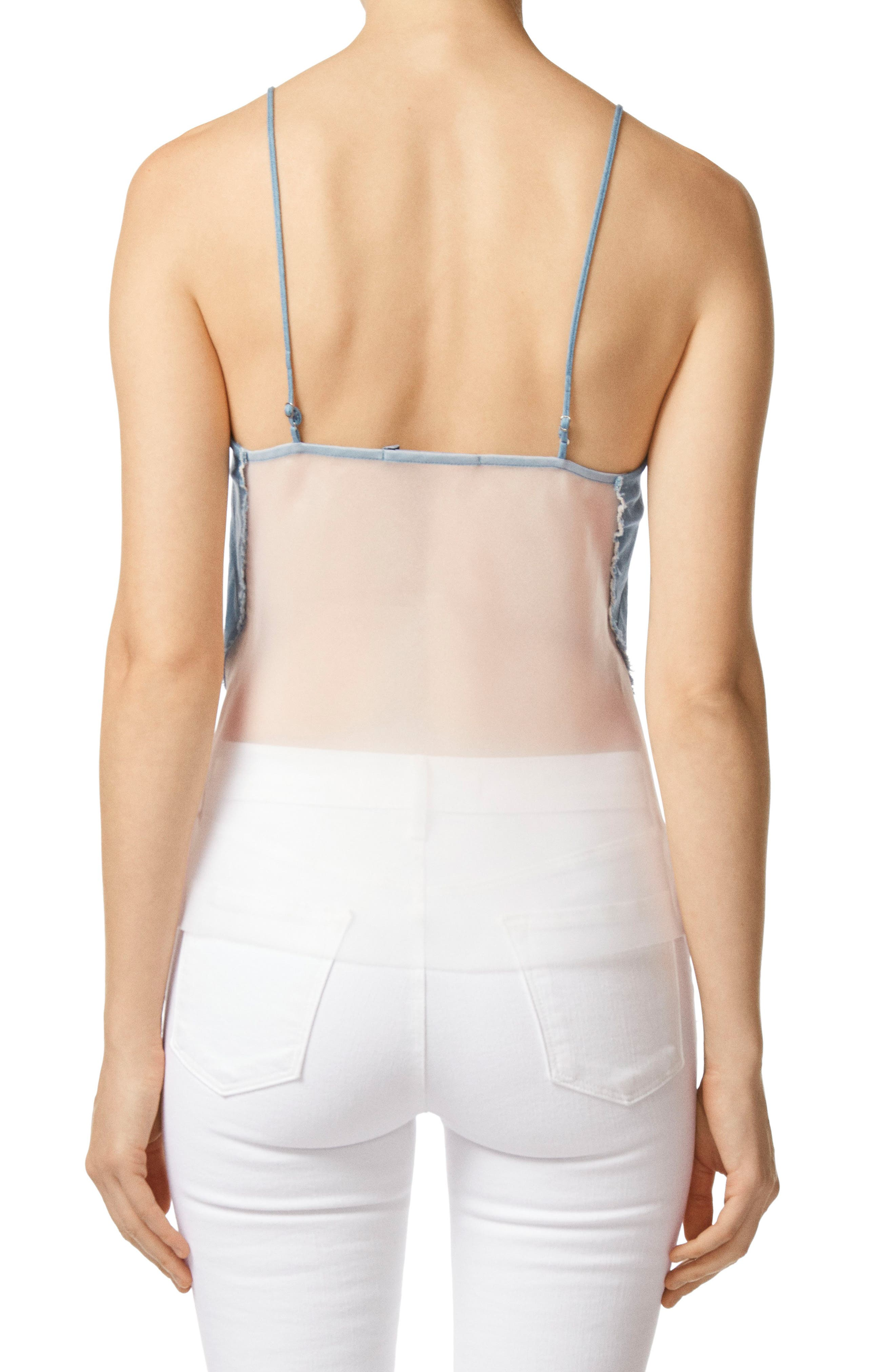 Lucy Illusion Back Camisole,                             Alternate thumbnail 2, color,                             Wishful