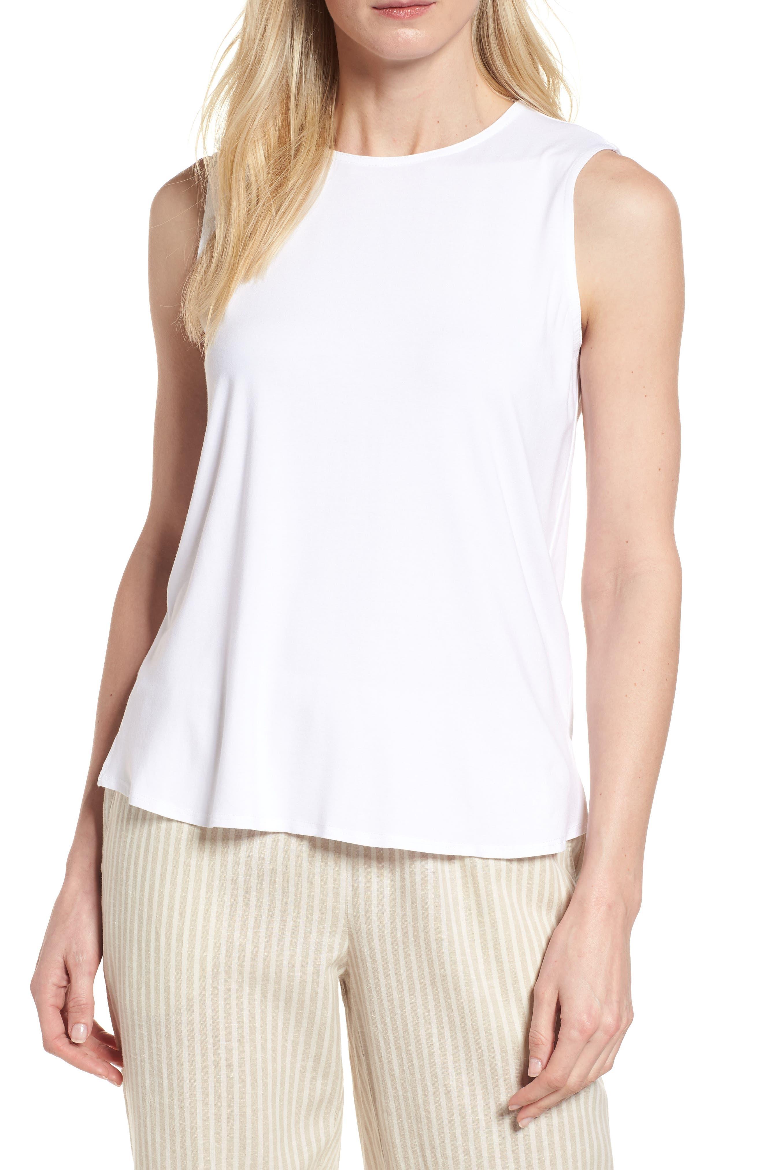 Eileen Fisher Knit Shirttail Shell