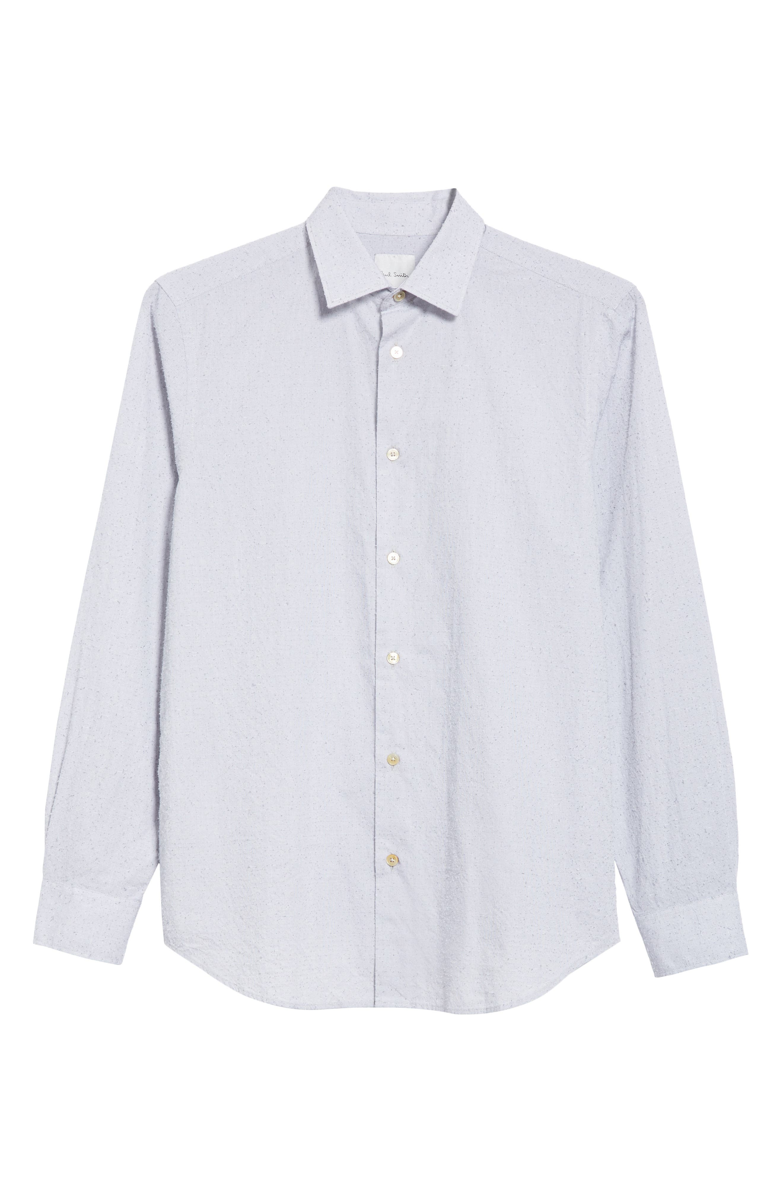 Nep Dot Woven Shirt,                             Alternate thumbnail 6, color,                             Blue