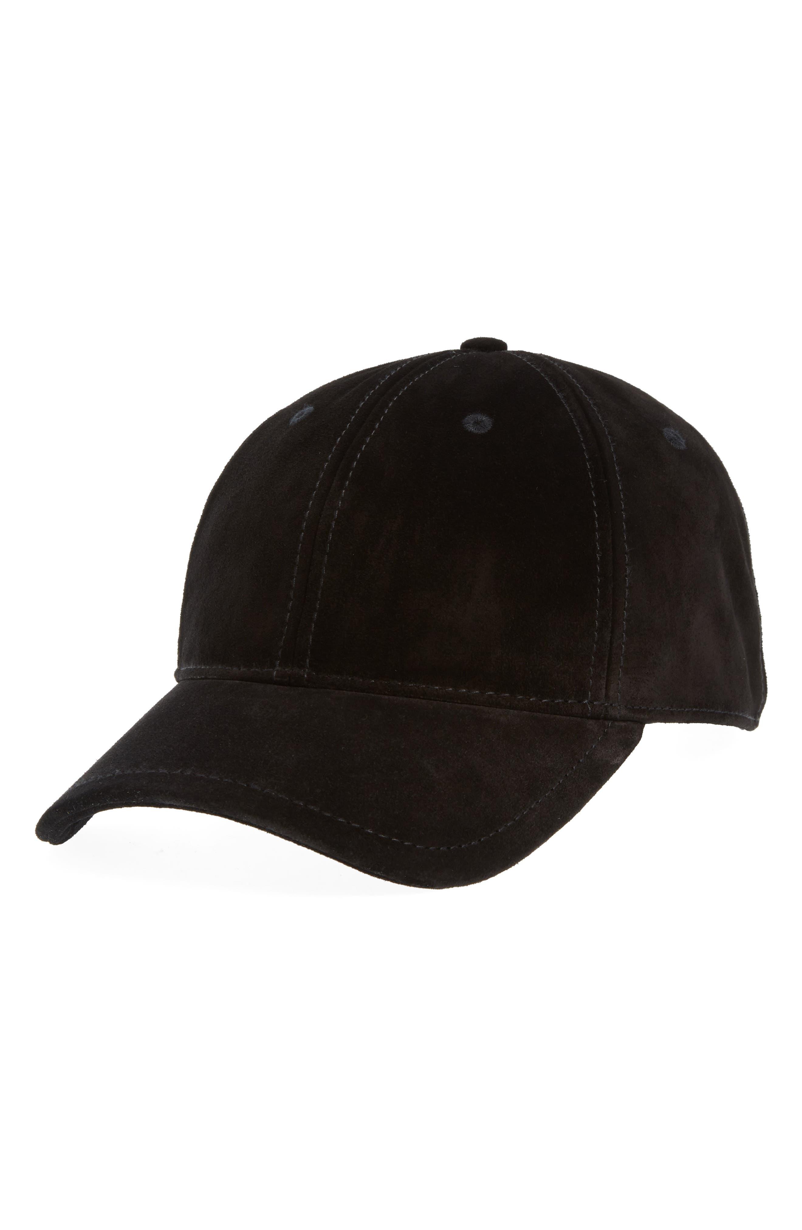 Lenox Ball Cap,                             Main thumbnail 1, color,                             Black Suede