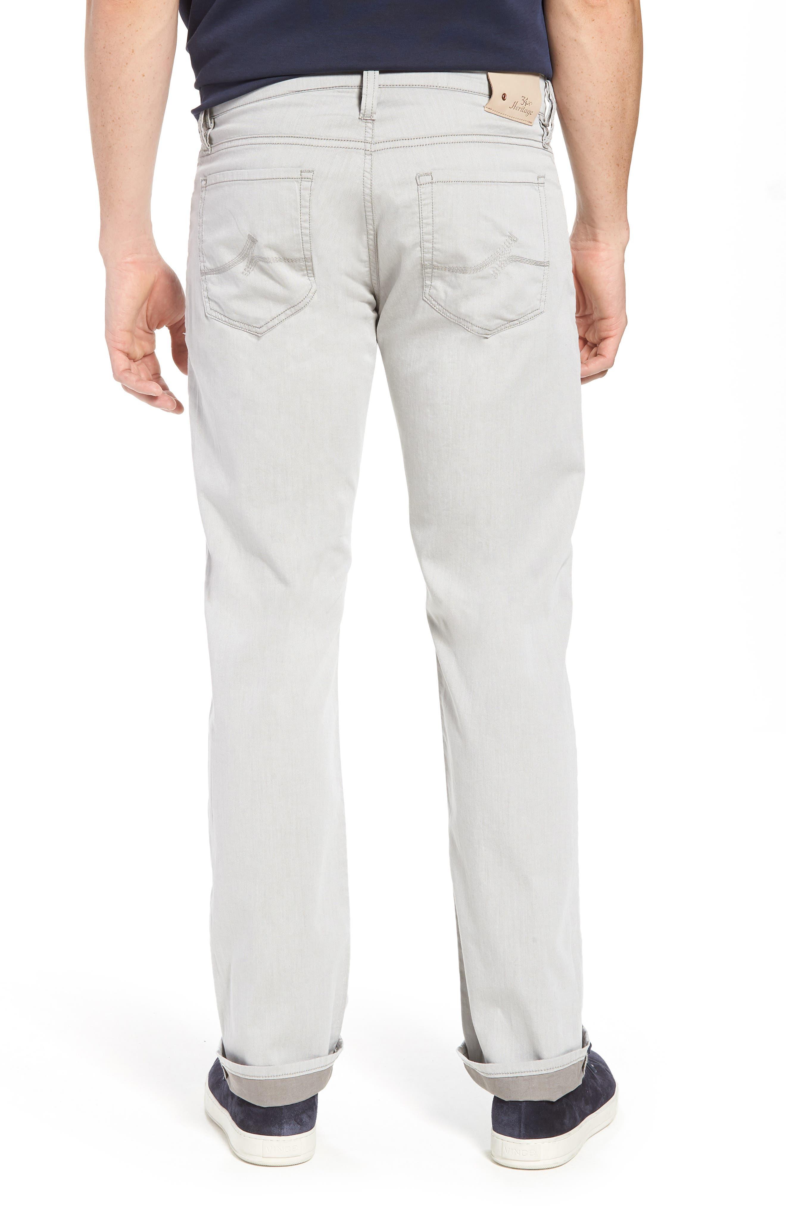 Courage Straight Leg Jeans,                             Alternate thumbnail 2, color,                             Latte Herringbone Reversed