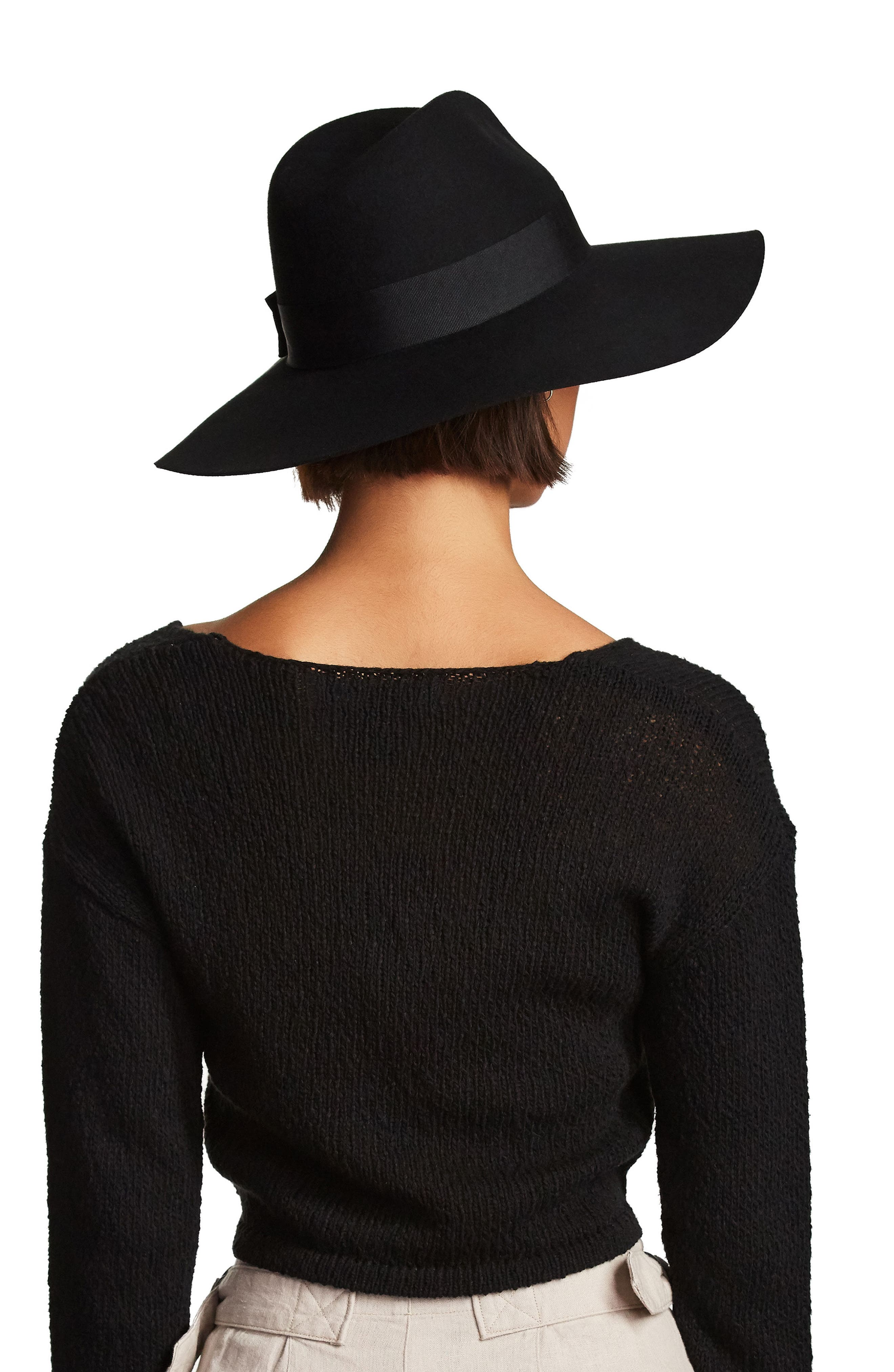 'Piper' Floppy Wool Hat,                             Alternate thumbnail 4, color,