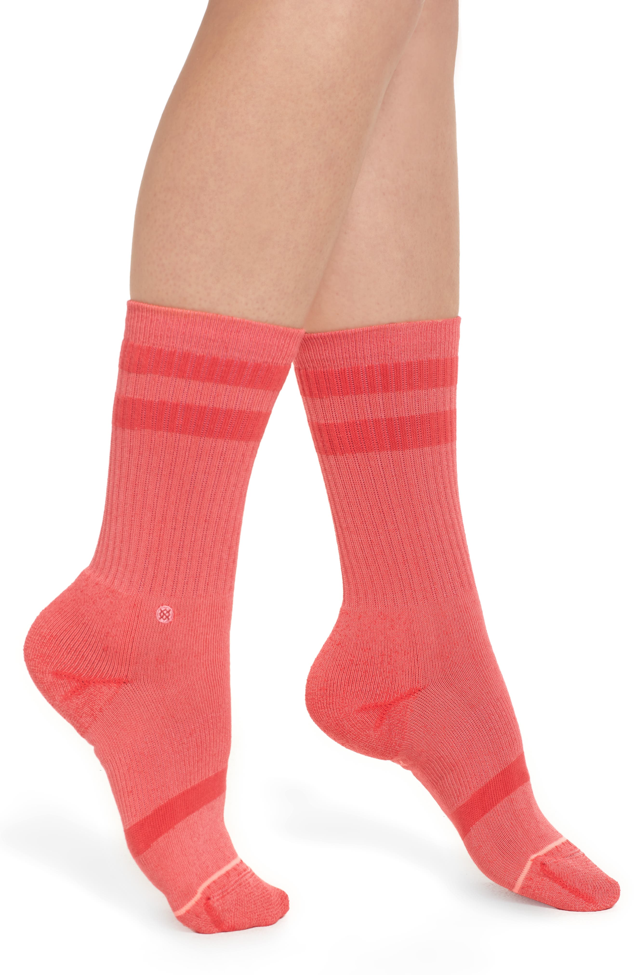 Classic Uncommon Crew Socks,                             Main thumbnail 1, color,                             Red