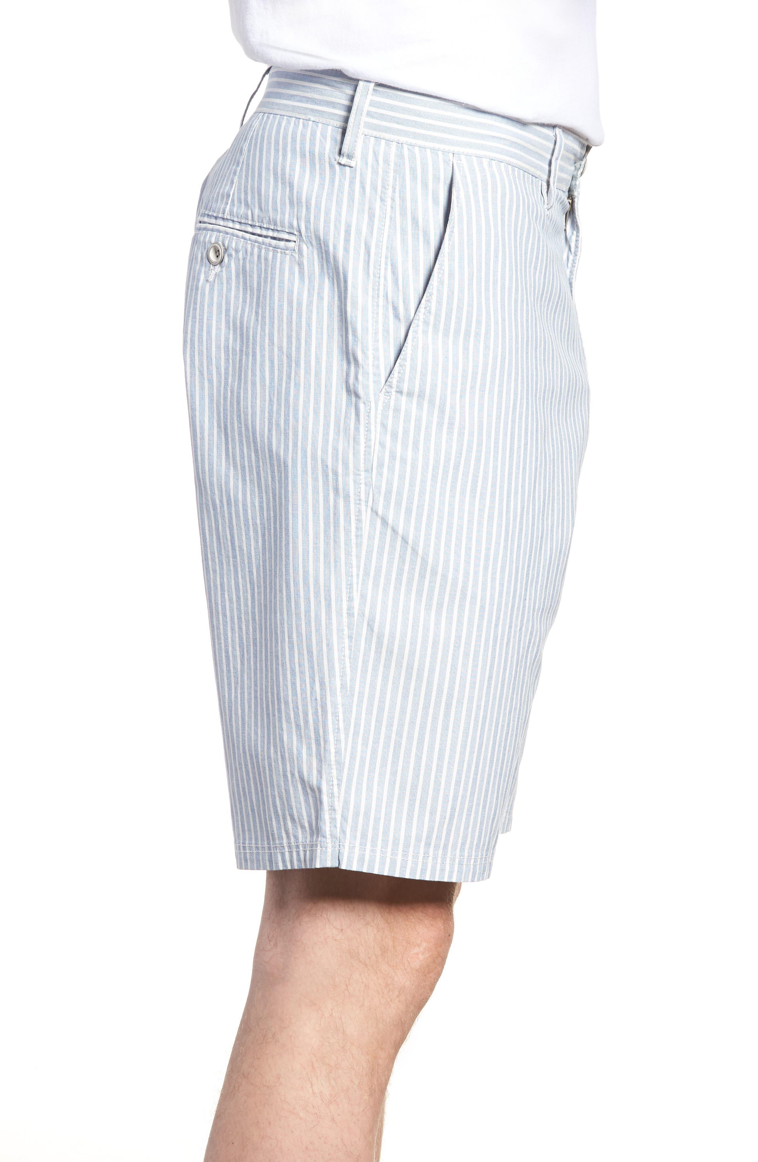 Preston Regular Fit Flat Front Shorts,                             Alternate thumbnail 3, color,                             Pacific
