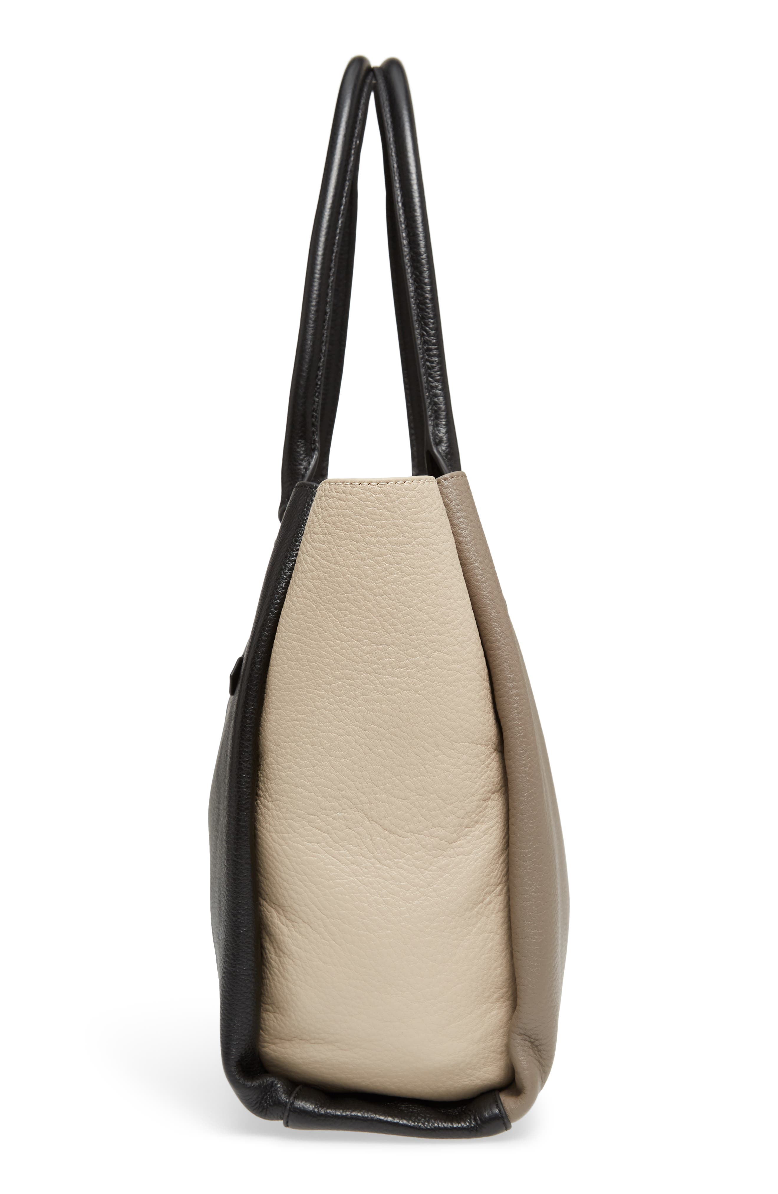 Céline Dion Adagio Leather Tote,                             Alternate thumbnail 5, color,                             Taupe Combo