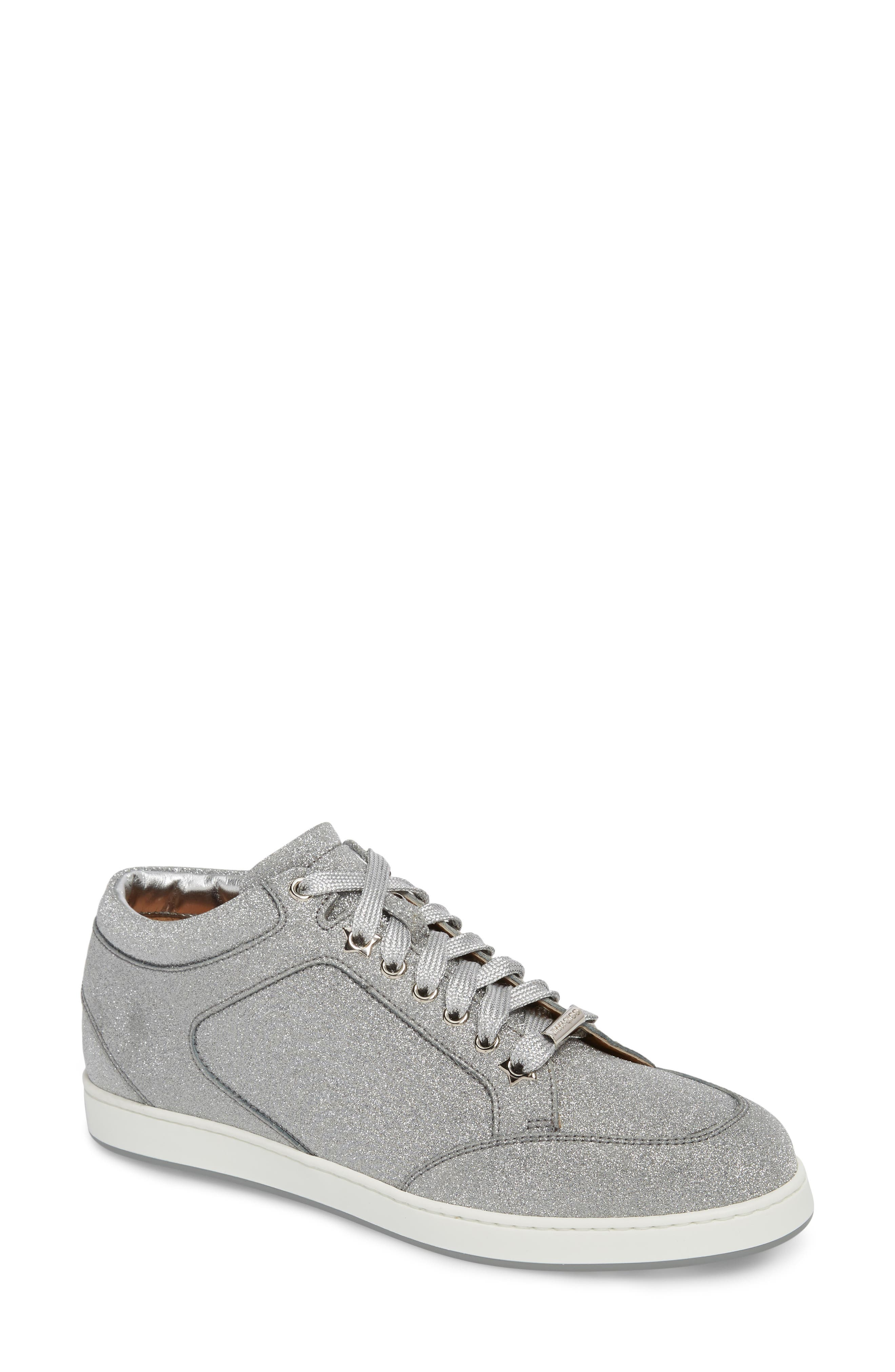 Miami Metallic Sneaker,                         Main,                         color, Silver
