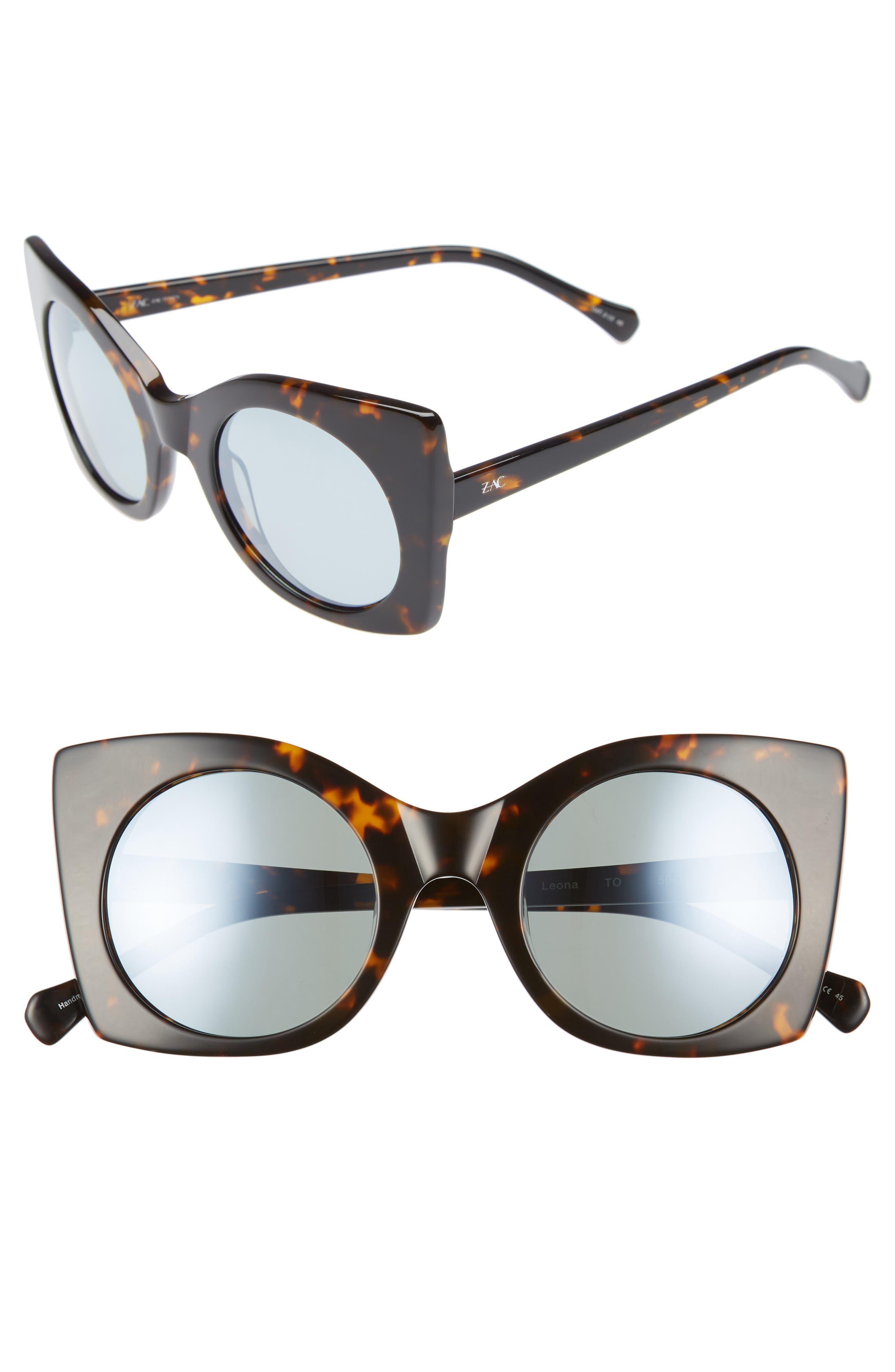 Zac Zac Posen Leona 50mm Polarized Sunglasses