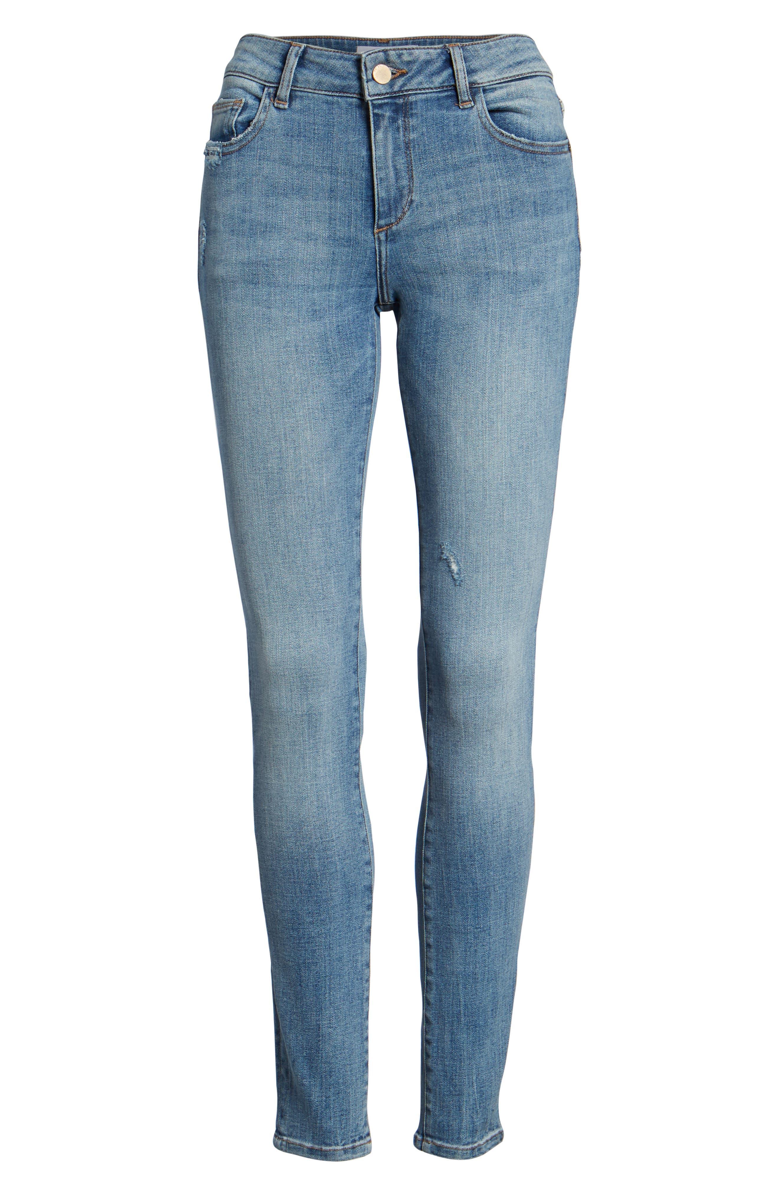 Florence Instasculpt Skinny Jeans,                             Alternate thumbnail 7, color,                             Delano