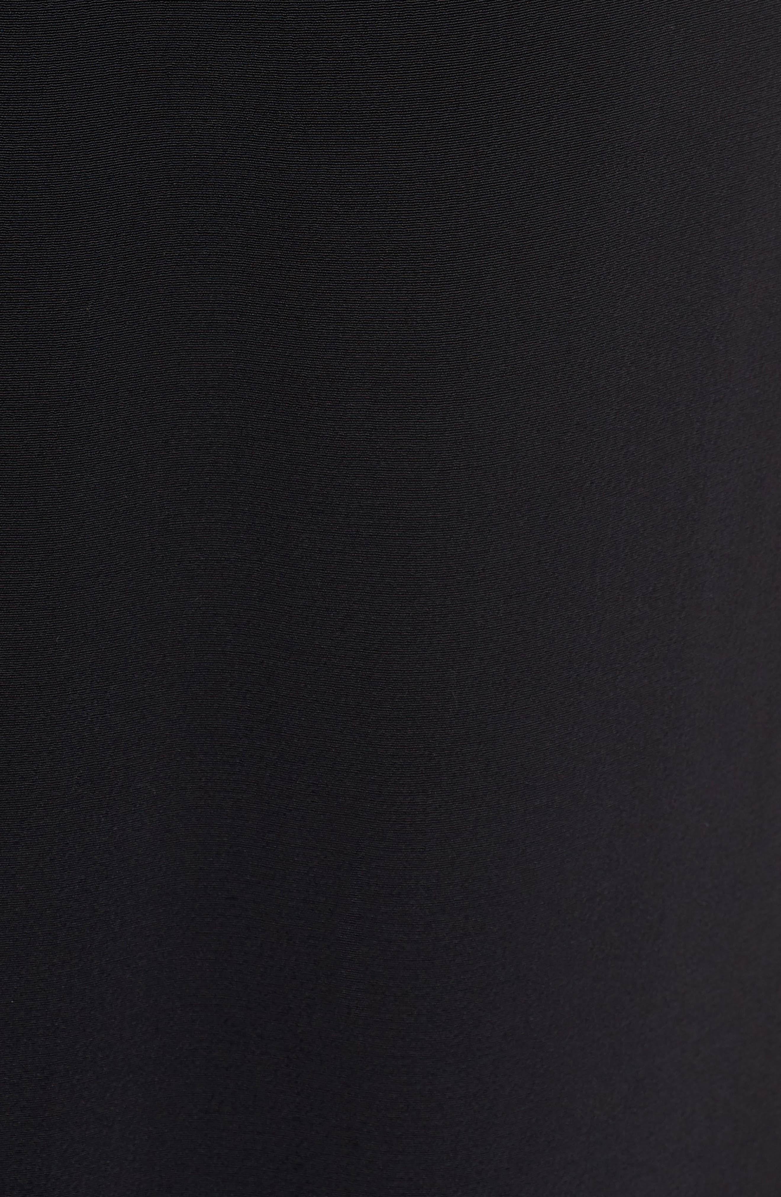 Tencel<sup>®</sup> Lyocell Blend Midi Dress,                             Alternate thumbnail 6, color,                             Black
