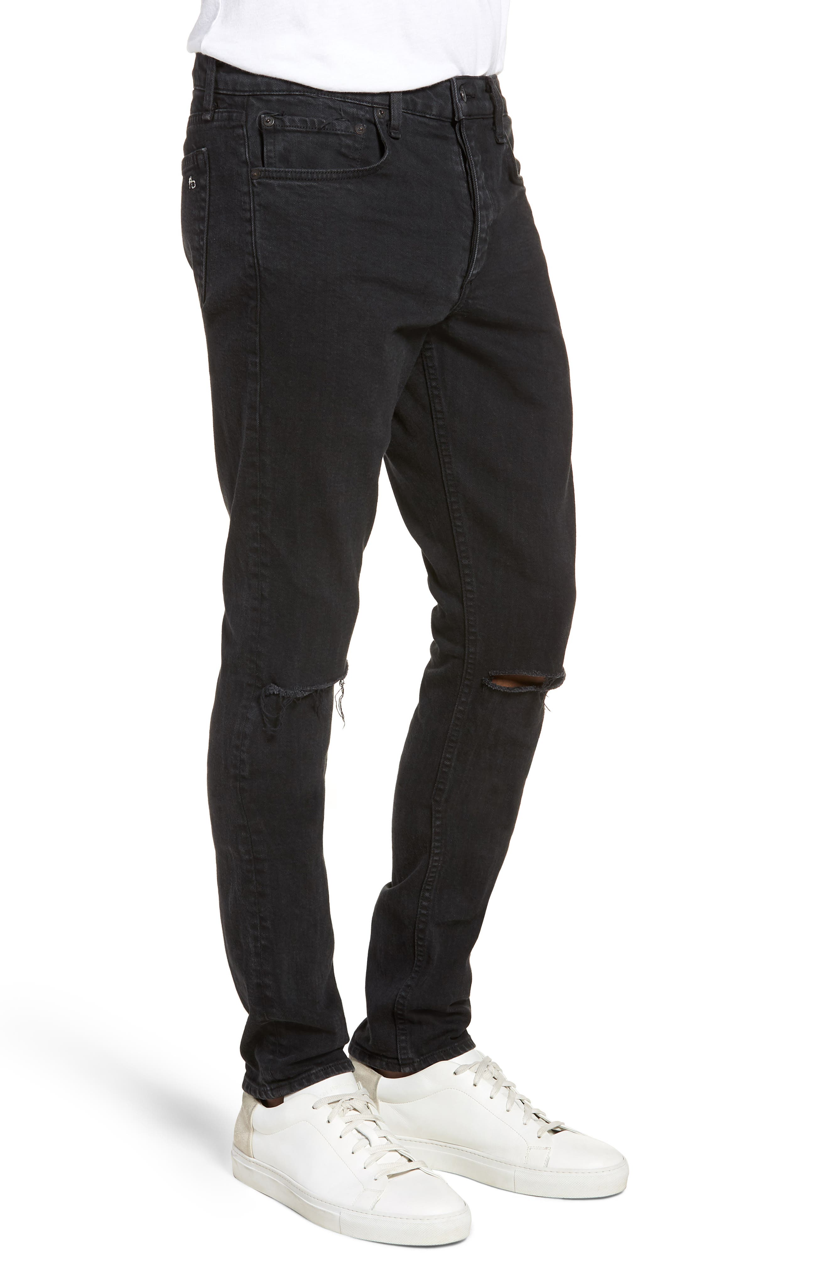 Fit 1 Skinny Fit Jeans,                             Alternate thumbnail 3, color,                             Shelter W/ Holes