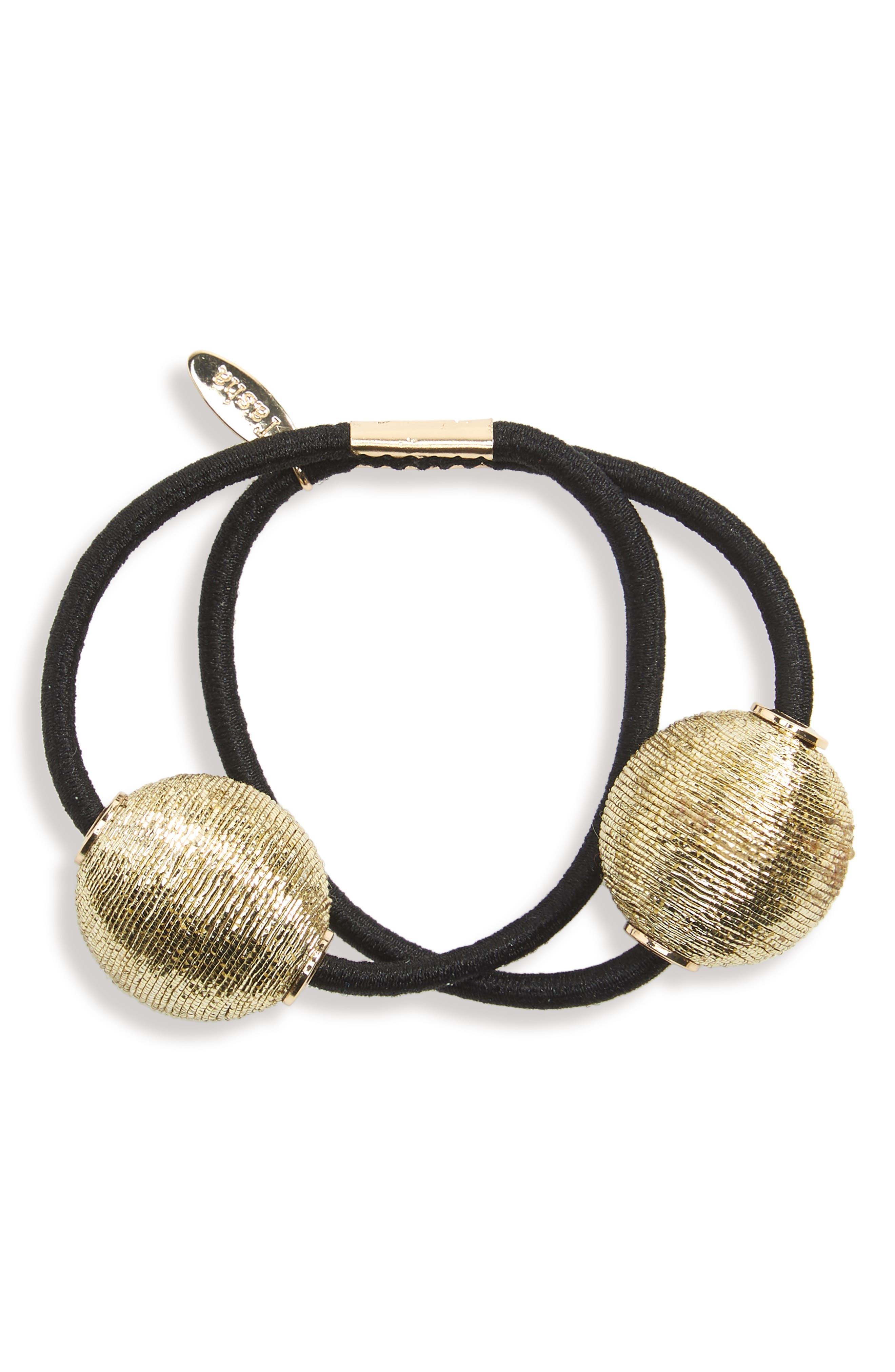 Main Image - Tasha Pearly Bead Double Ponytail Holder