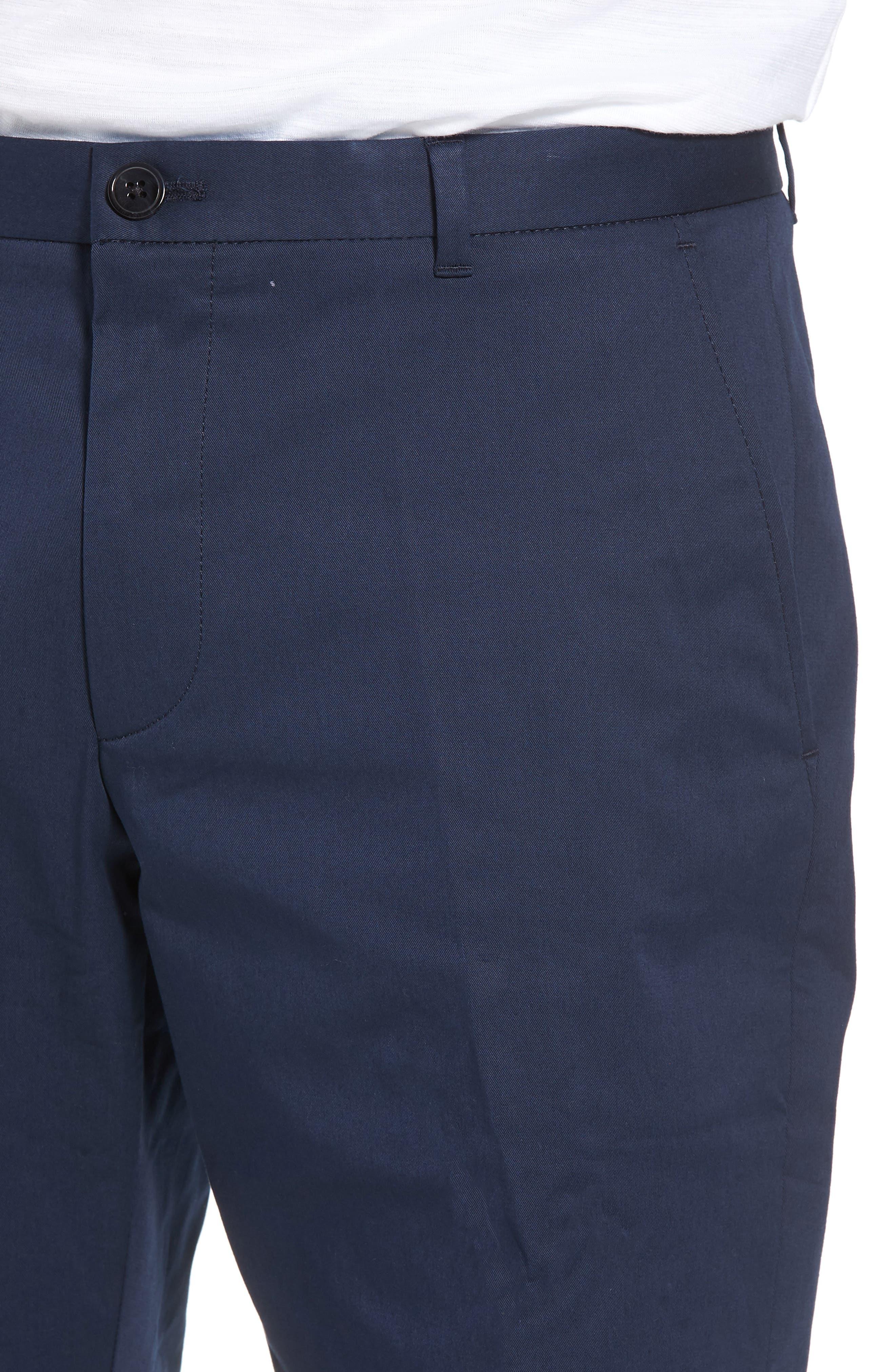 Hano Flat Front Shorts,                             Alternate thumbnail 4, color,                             Blue