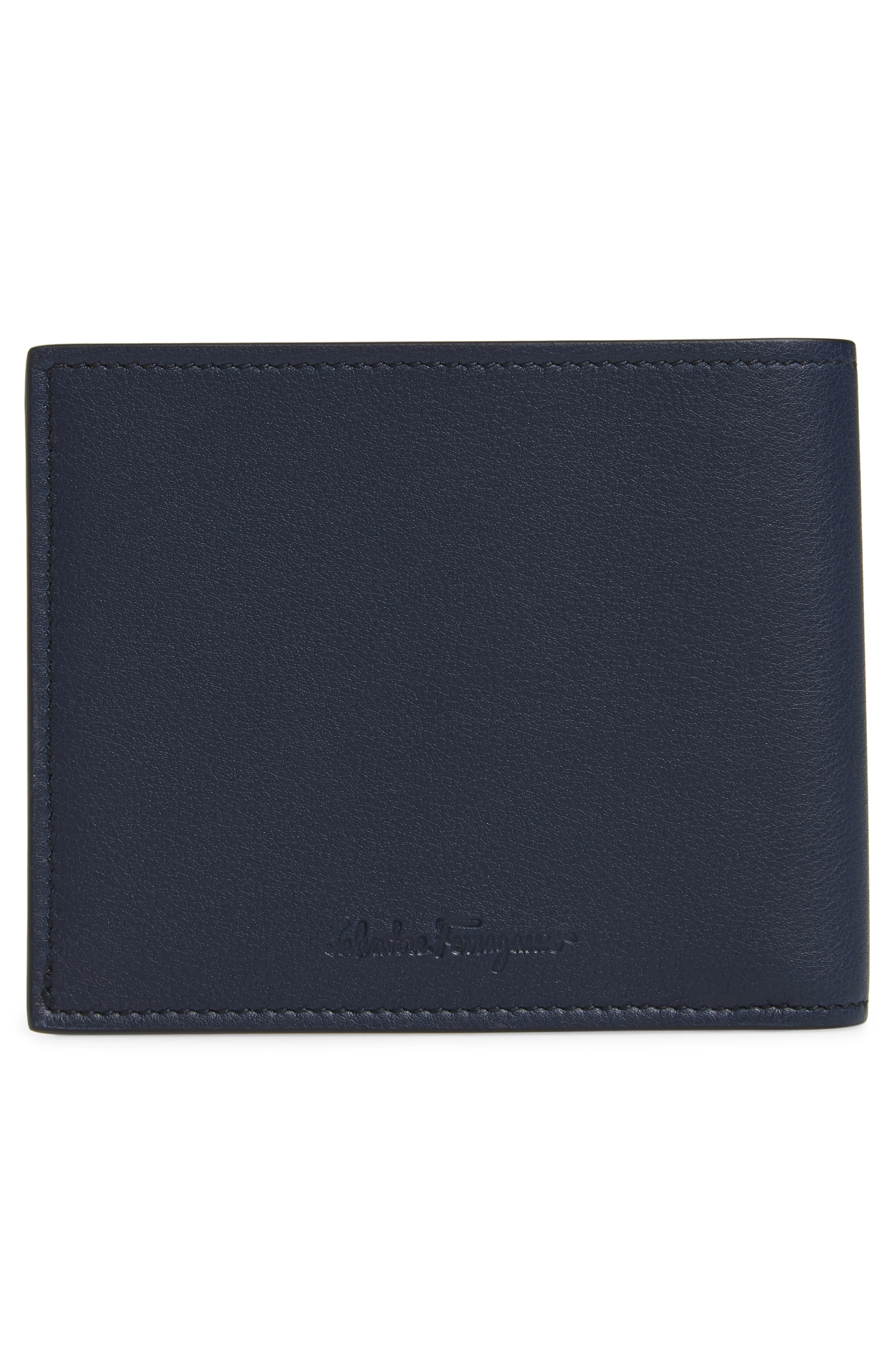 Carne Chinese New Year Studded Leather Wallet,                             Alternate thumbnail 3, color,                             Navy