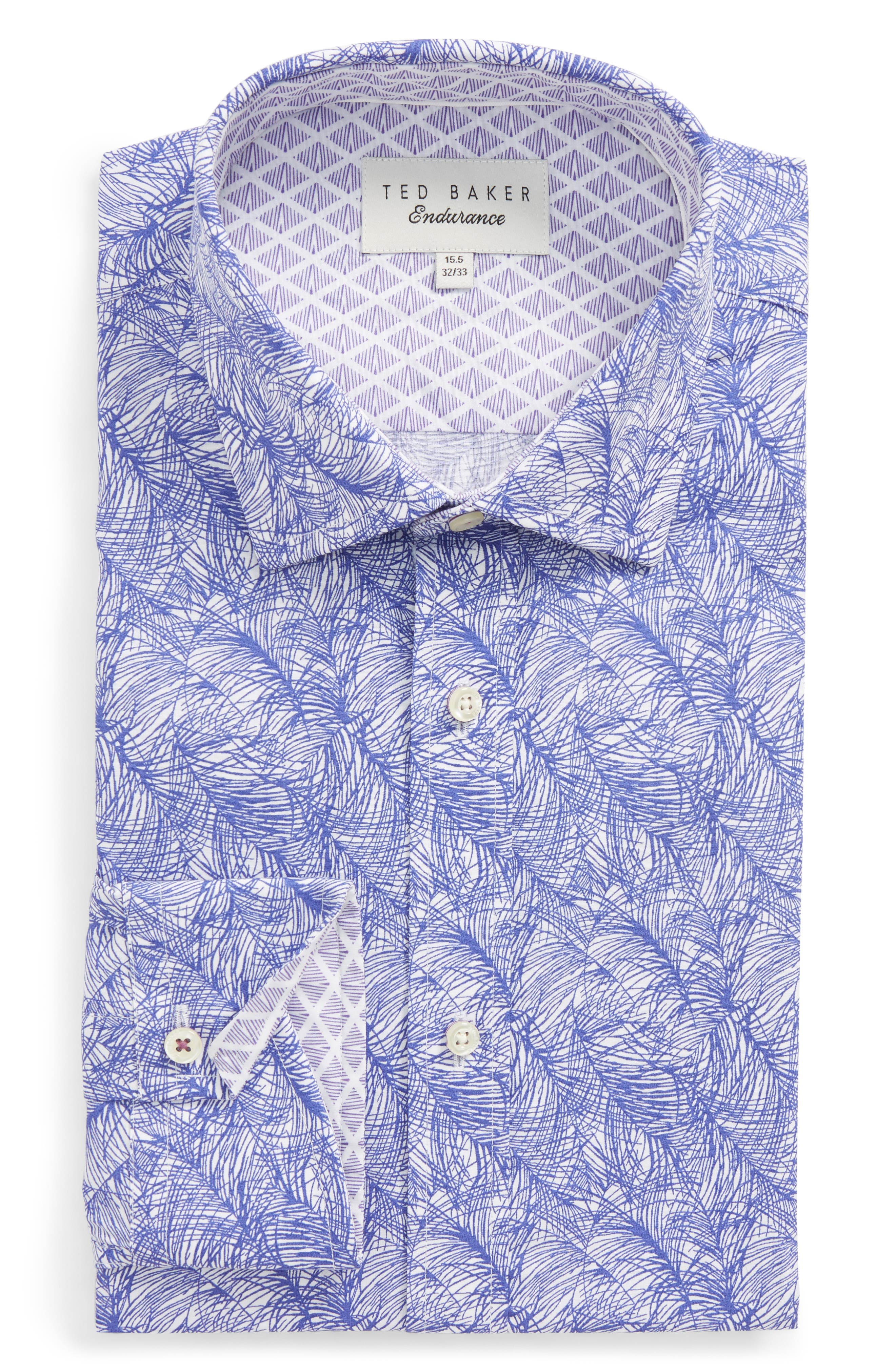 Ted Baker London Messera Trim Fit Print Dress Shirt