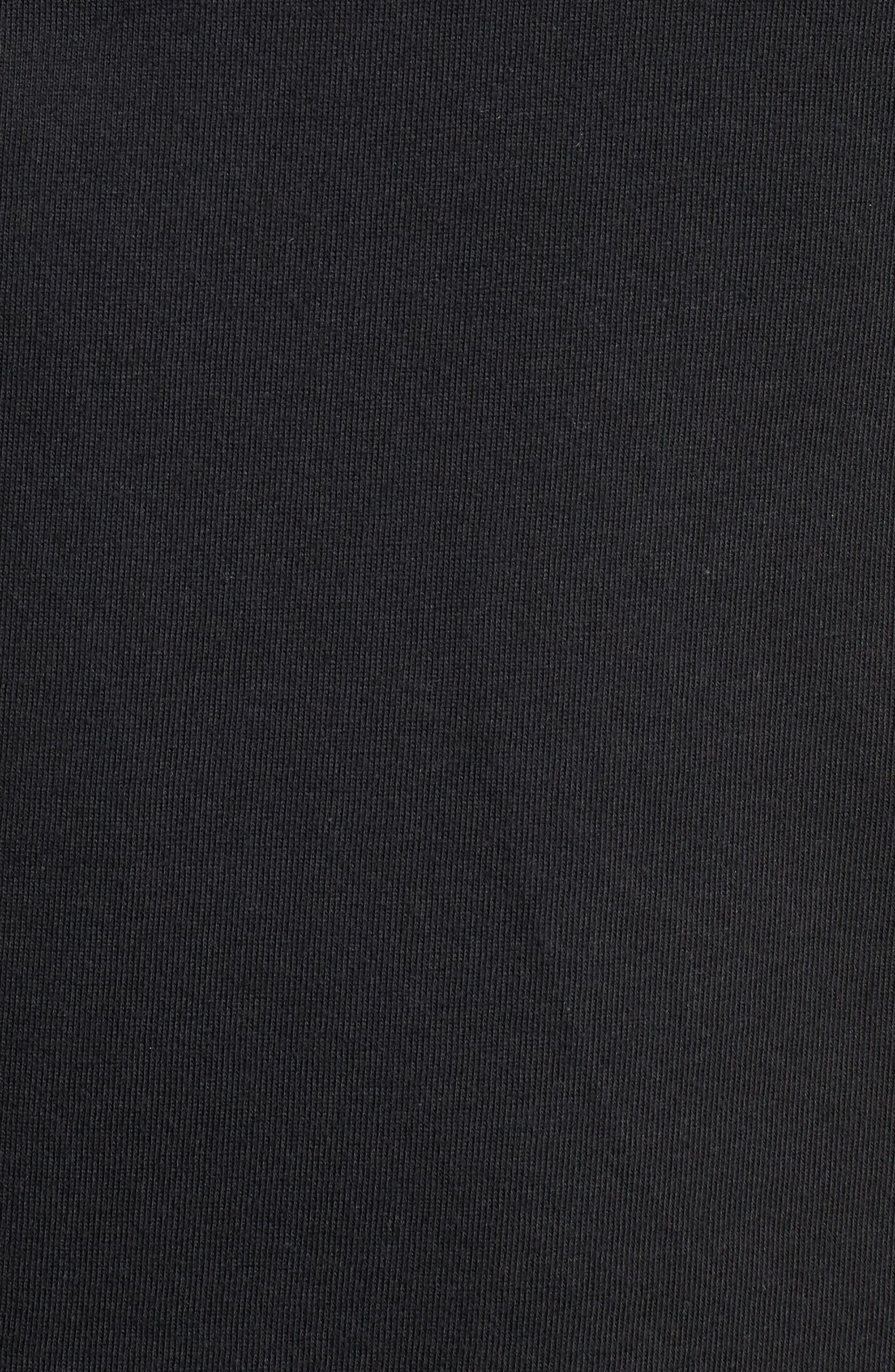 Dry Hoops T-Shirt,                             Alternate thumbnail 5, color,                             Black/ White