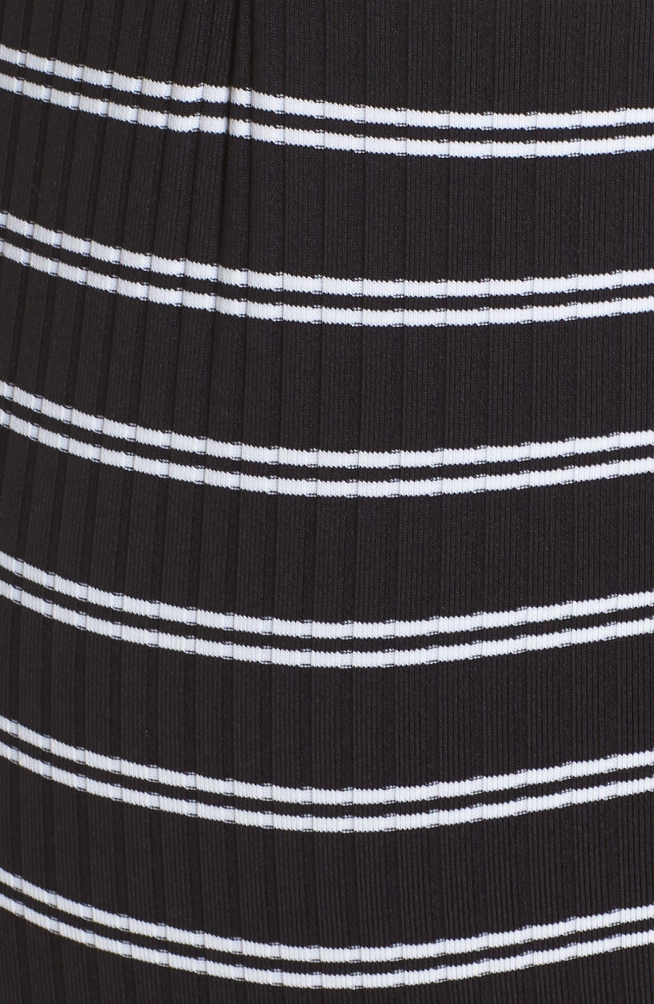 Inka Stripe Lace-Up One-Piece Swimsuit,                             Alternate thumbnail 5, color,                             Black
