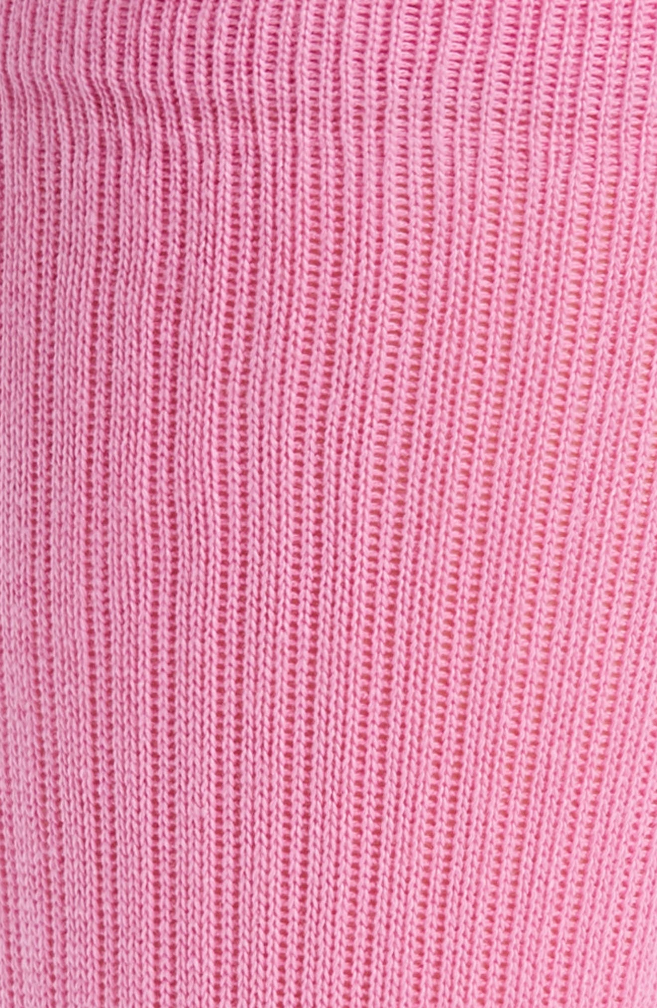 'Icon' Crew Socks,                             Alternate thumbnail 2, color,                             Saturated Pink