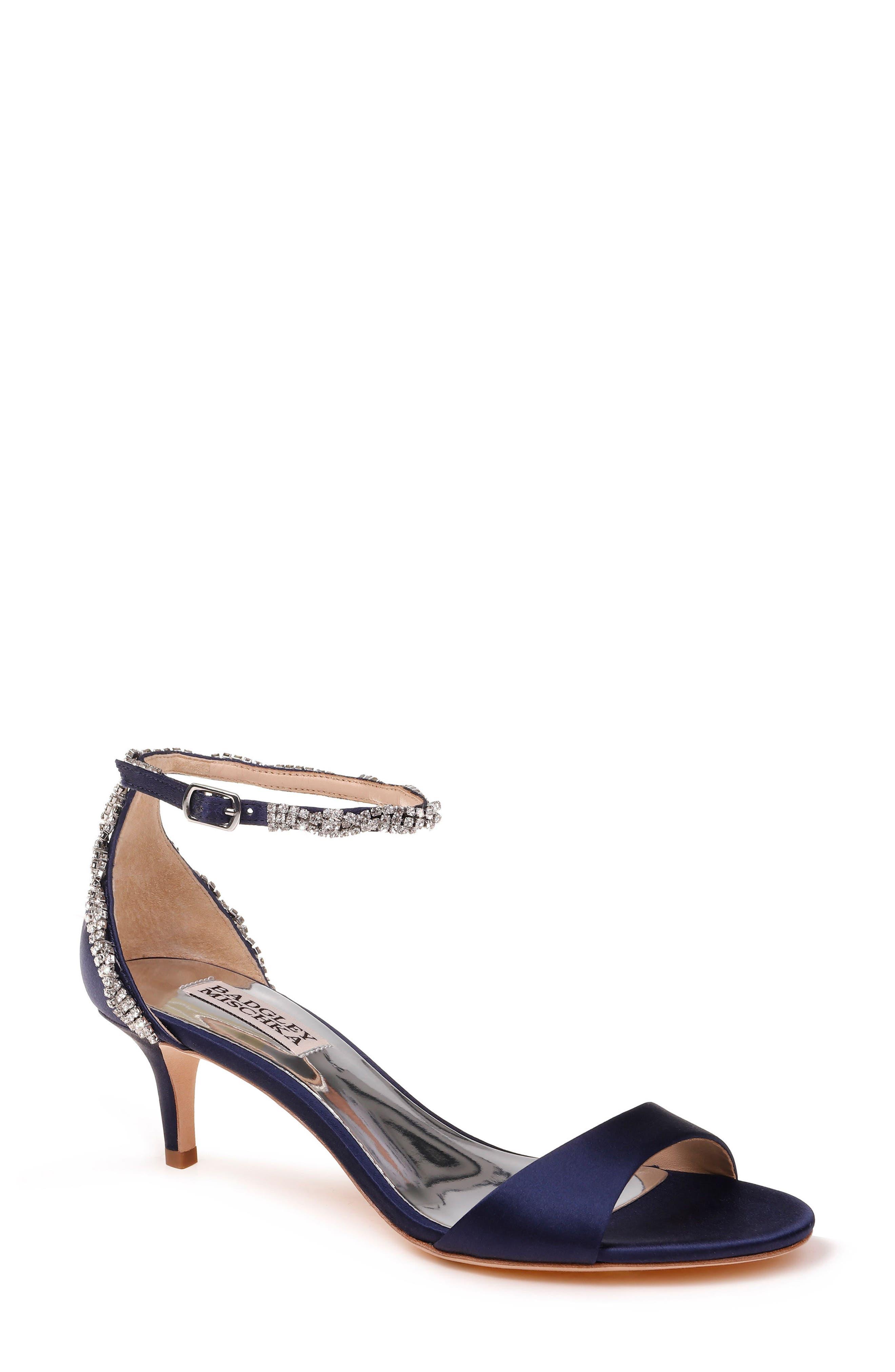 Yareli Crystal Embellished Sandal,                             Main thumbnail 1, color,                             Midnight Satin