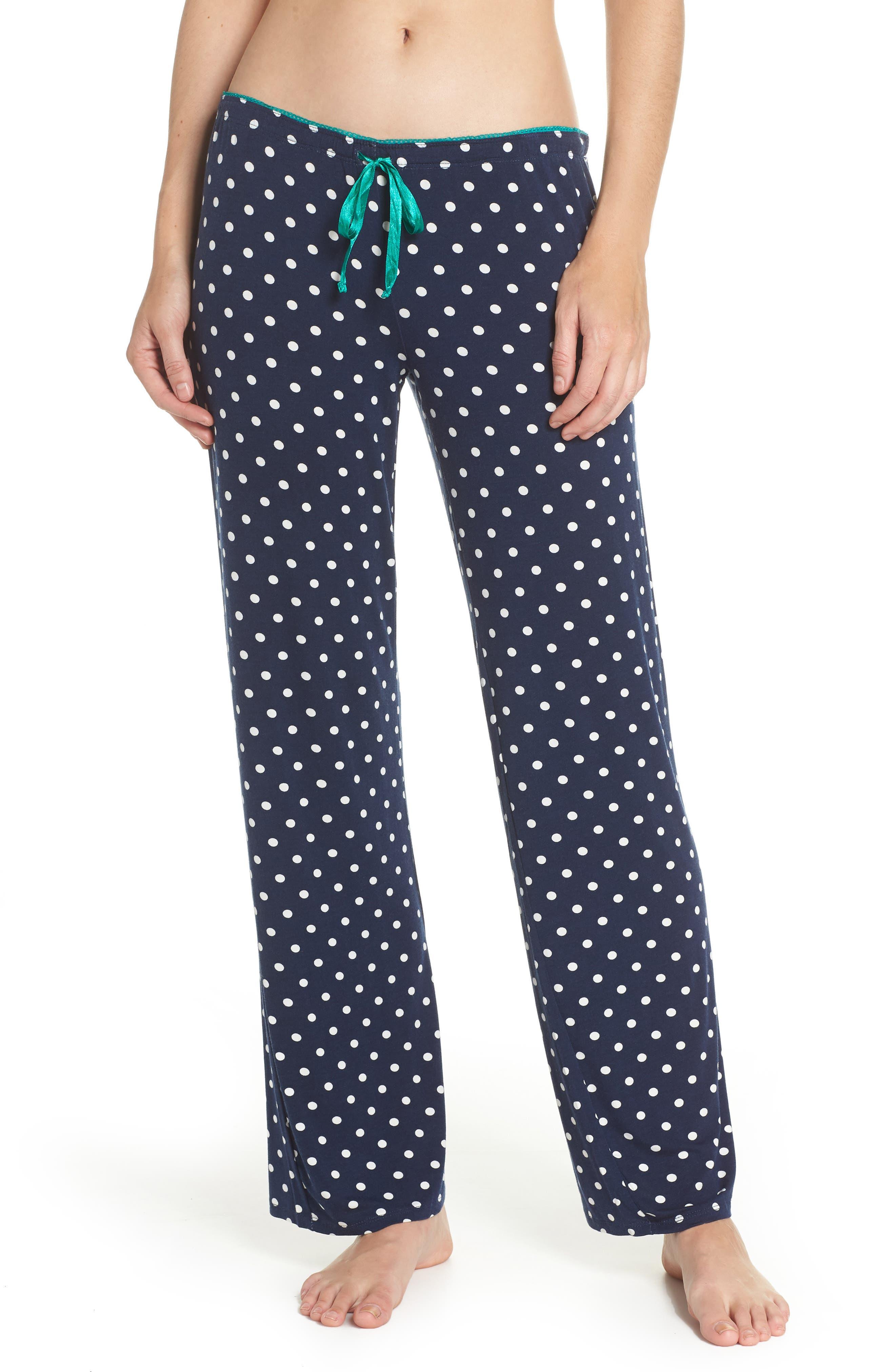 Jersey Pajama Pants,                         Main,                         color, Navy