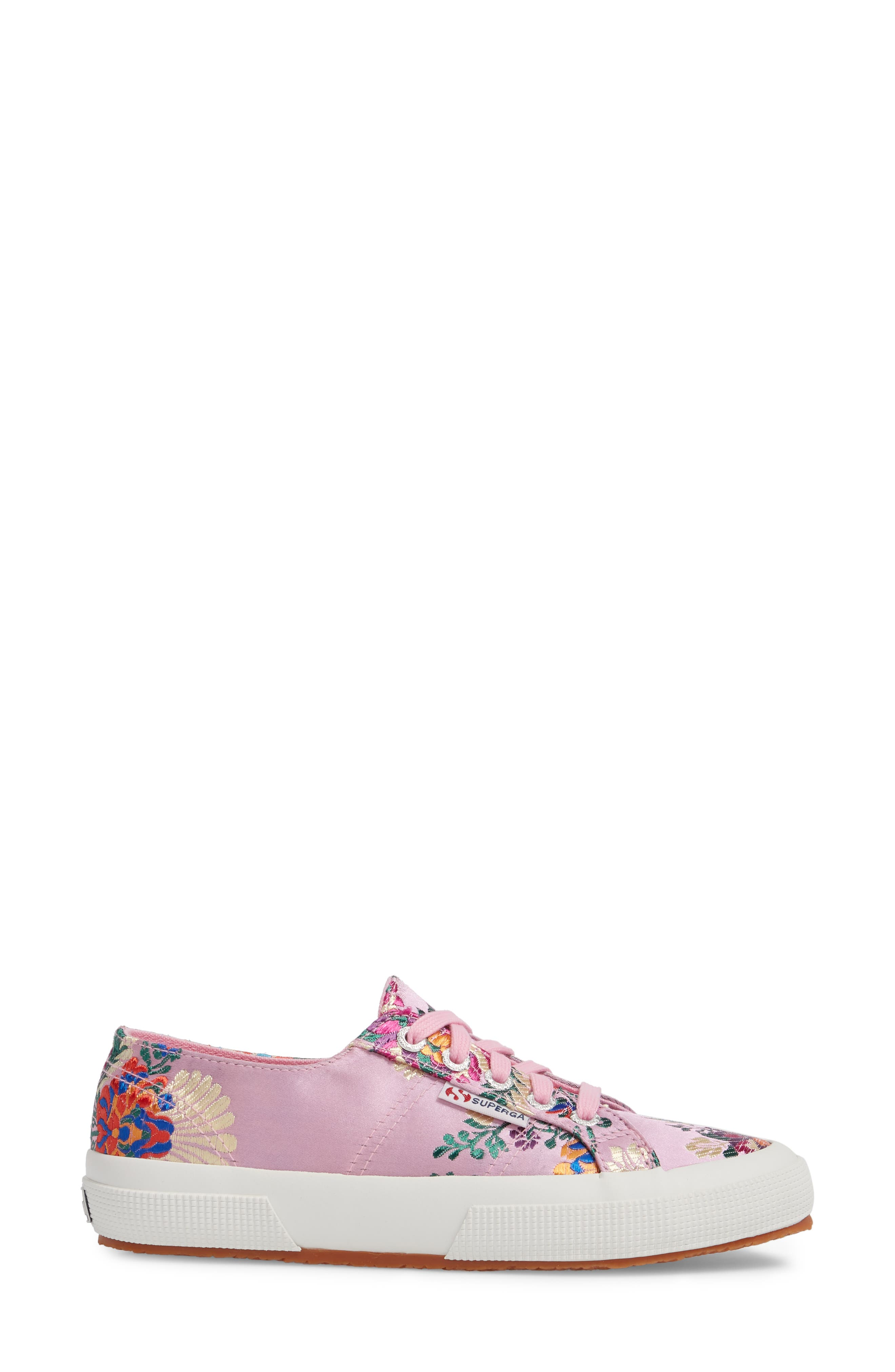 2750 Embroidered Sneaker,                             Alternate thumbnail 3, color,                             Pink