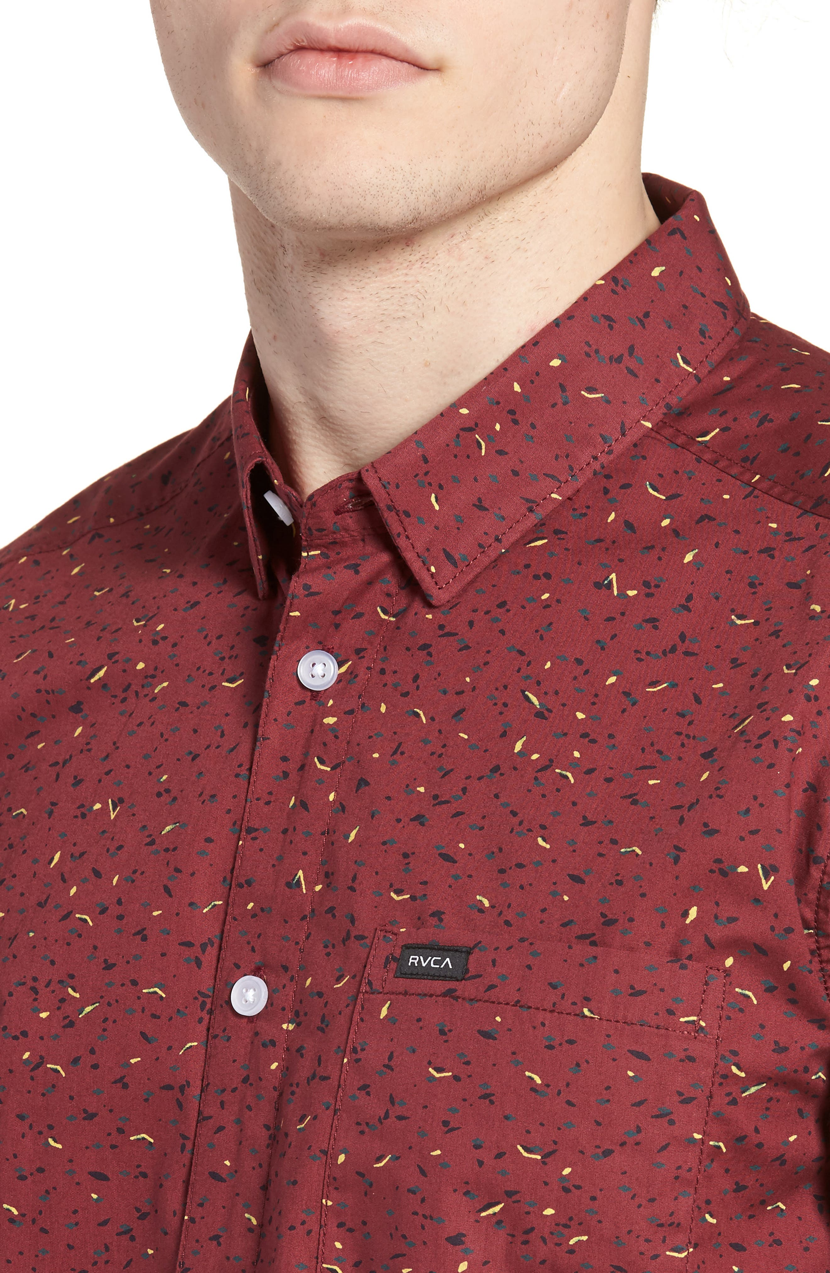 Jaded Woven Shirt,                             Alternate thumbnail 2, color,                             Tawny Port