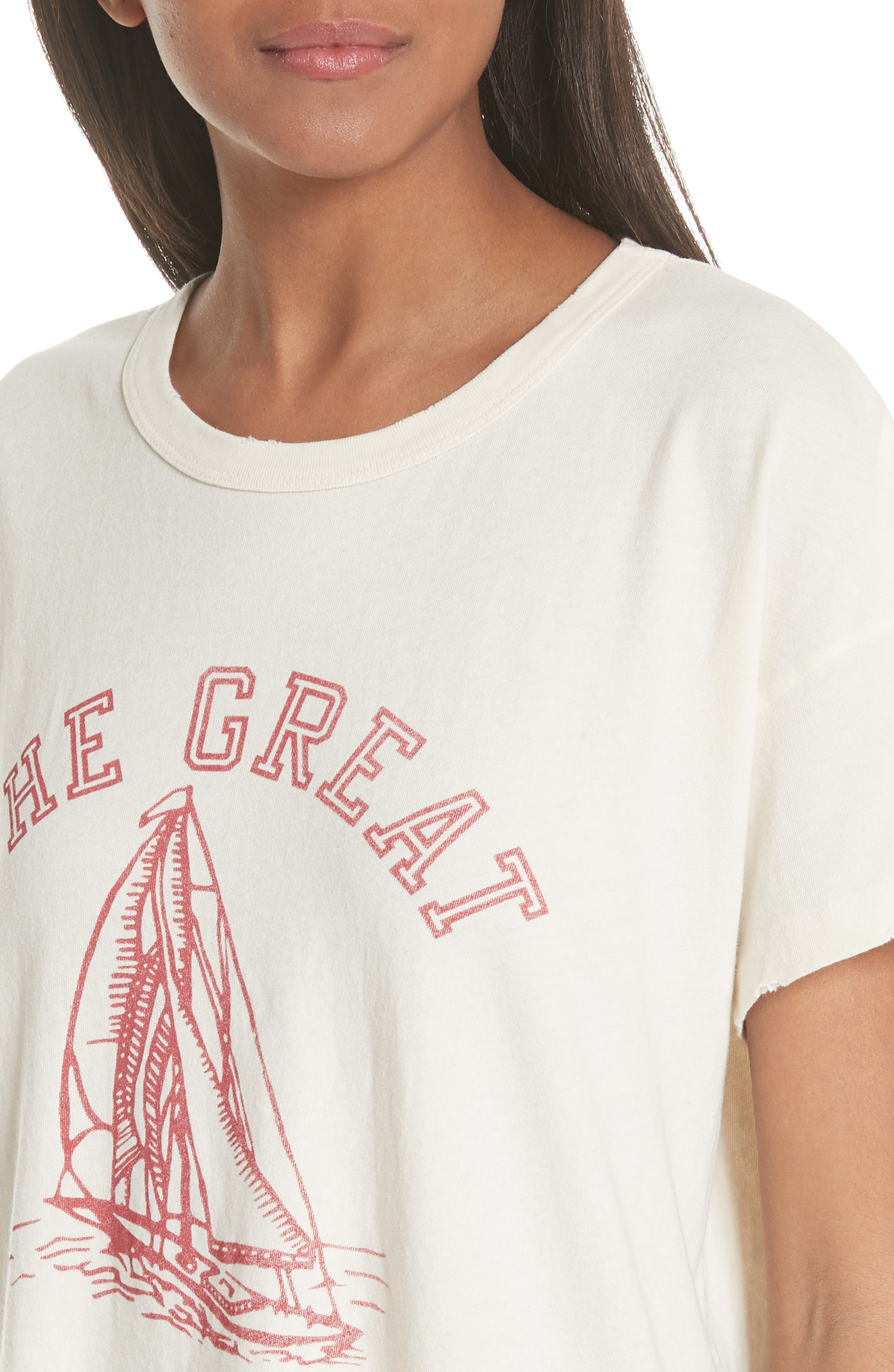 Tee,                             Alternate thumbnail 4, color,                             Washed White